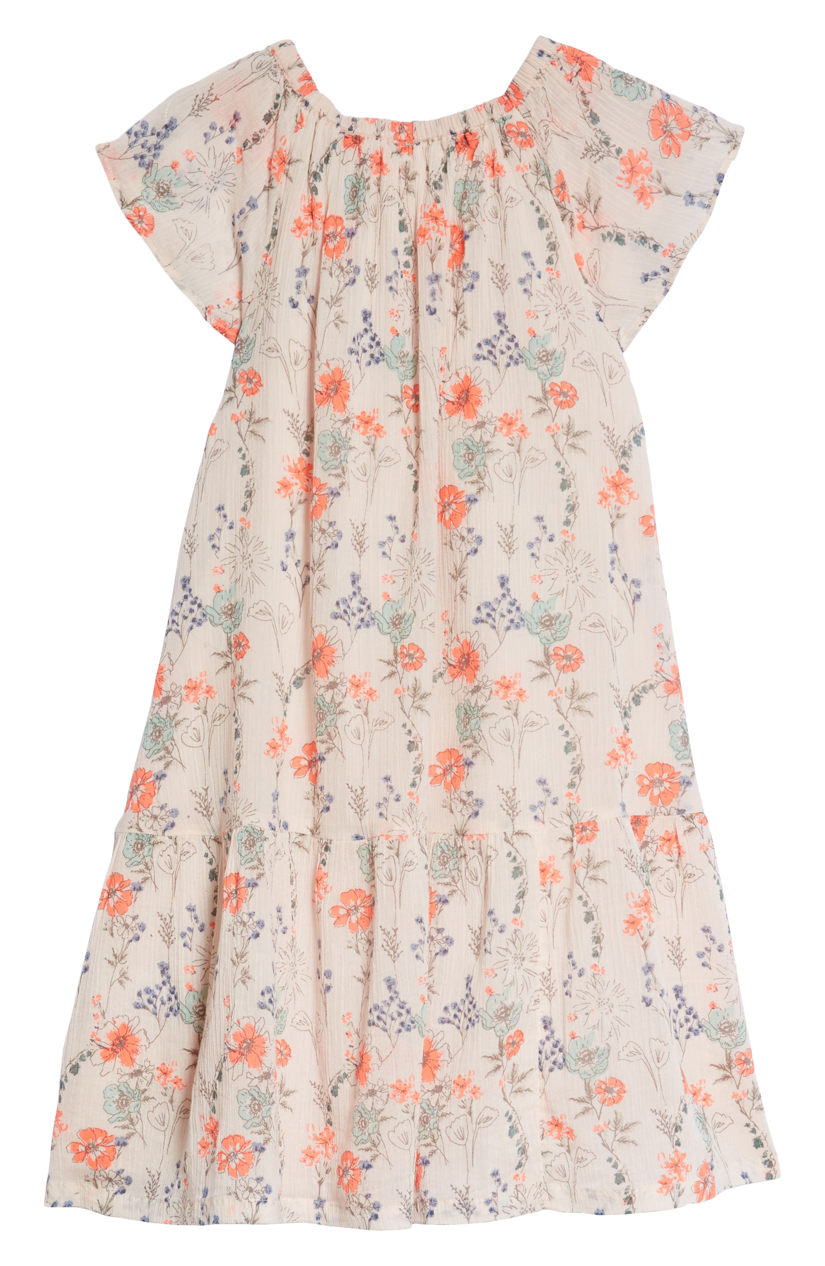 Floral Swing Dress,                             Alternate thumbnail 2, color,                             680