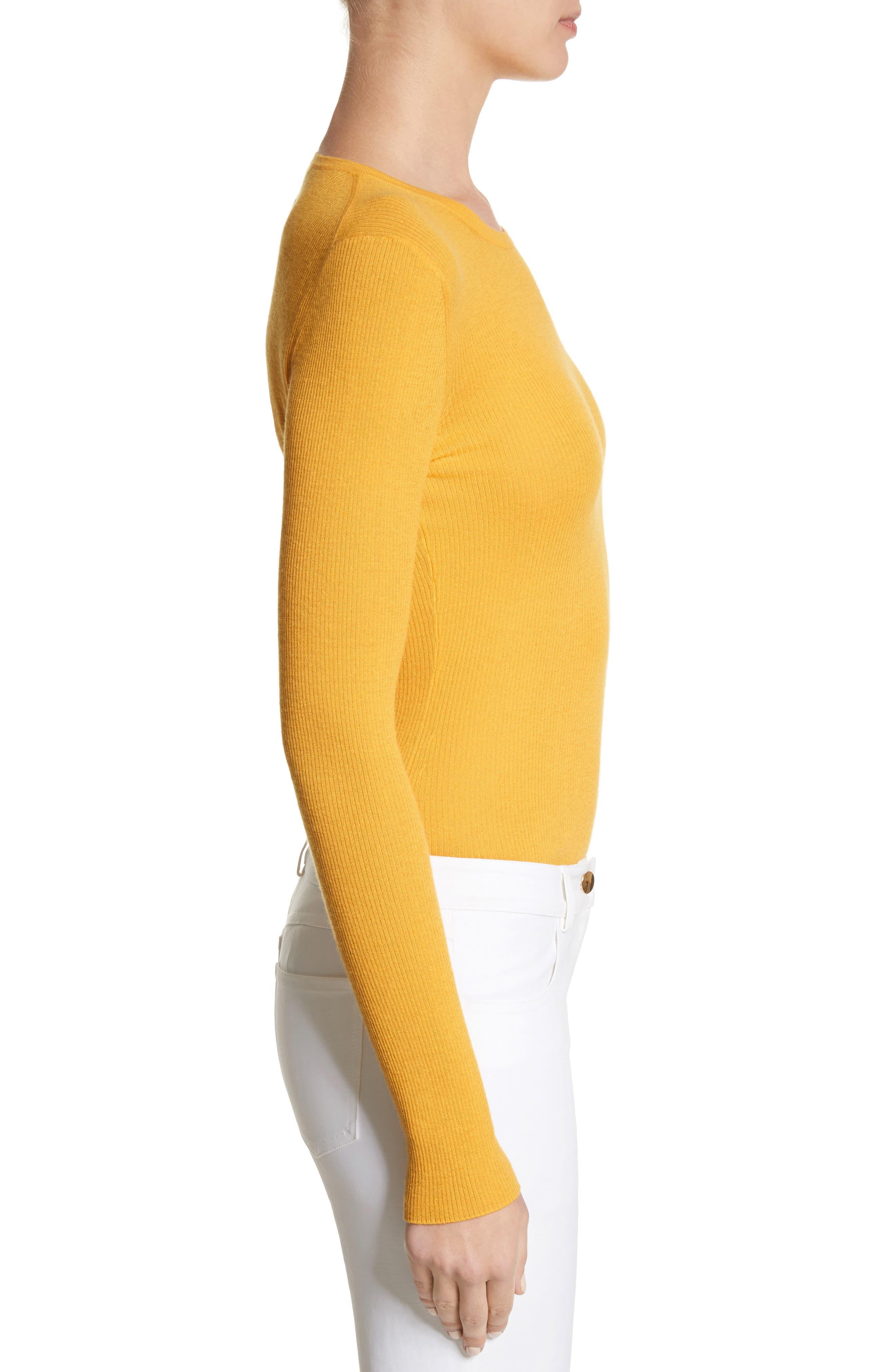 Cashmere Crewneck Sweater,                             Alternate thumbnail 3, color,                             110