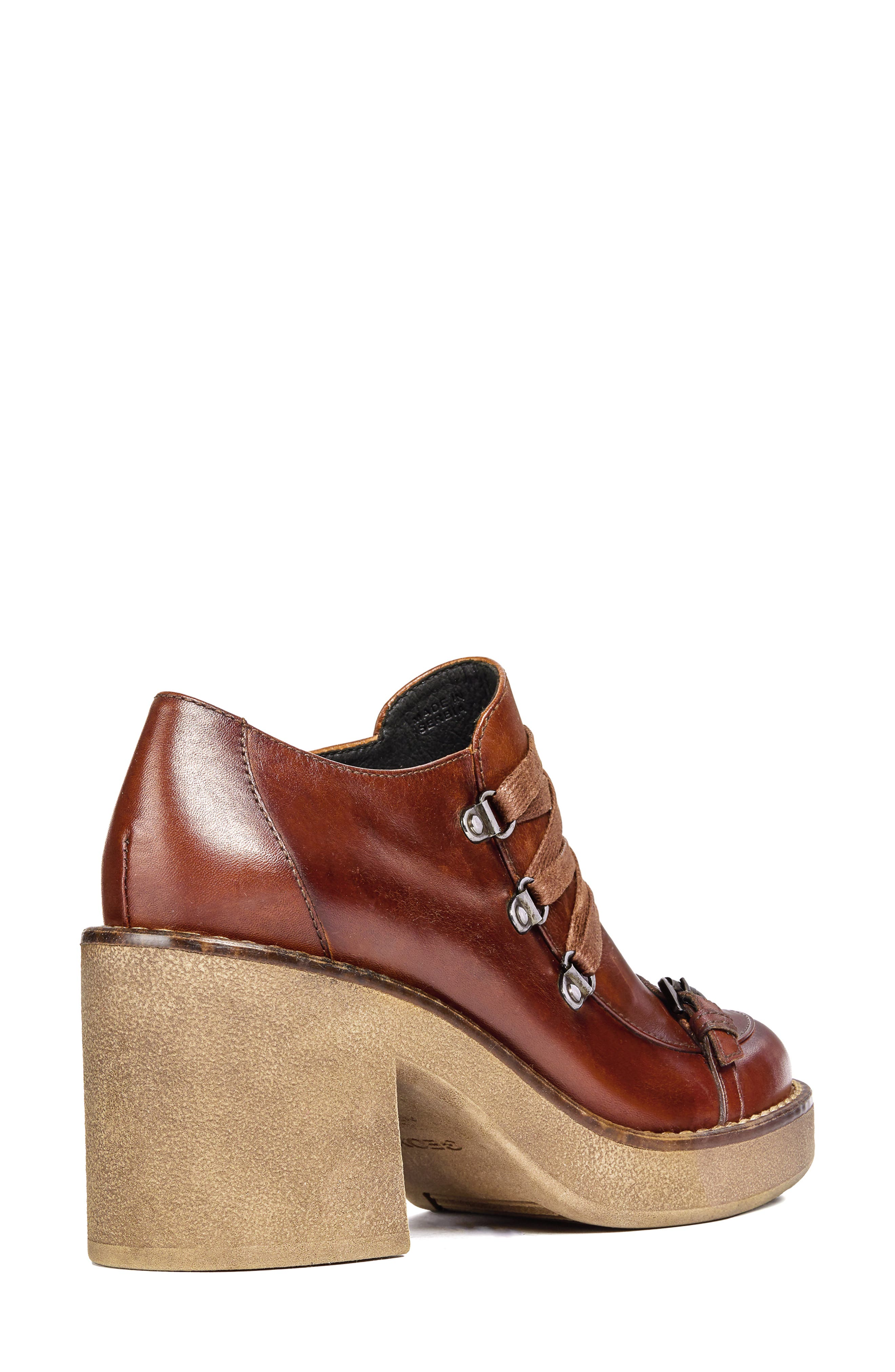 Adrya Bootie,                             Alternate thumbnail 6, color,                             BROWN LEATHER