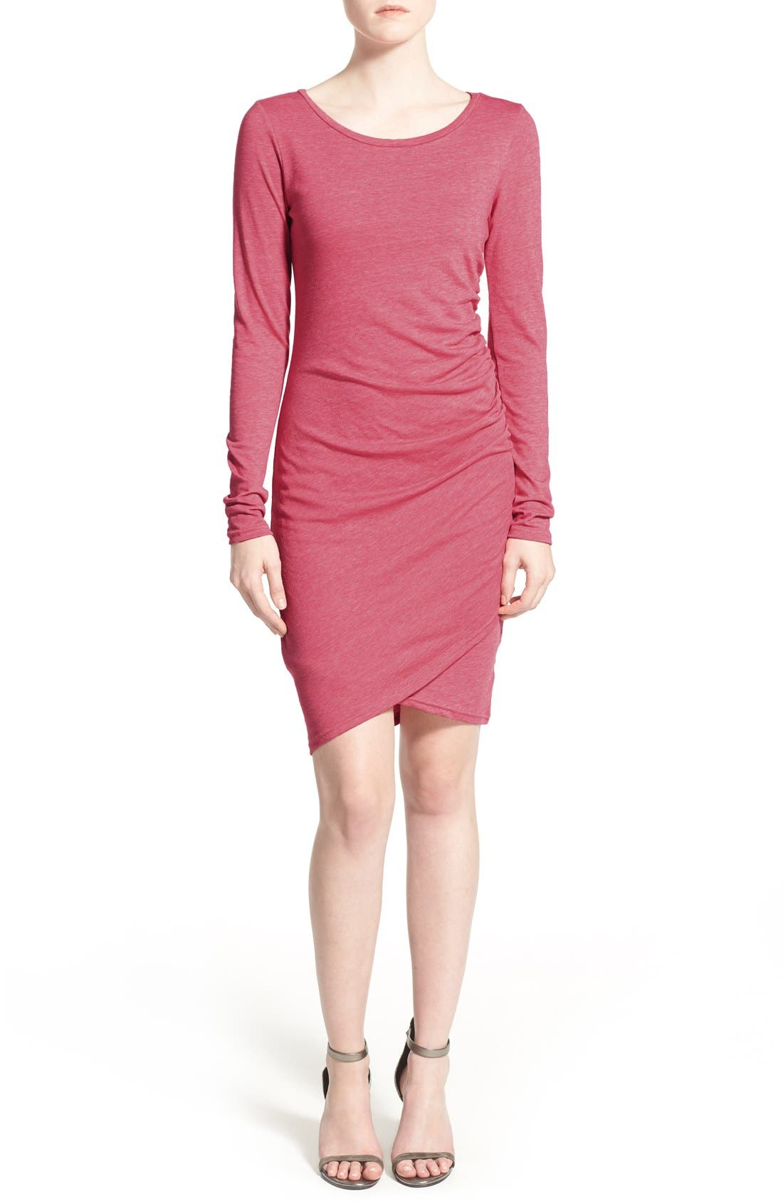 Ruched Long Sleeve Dress,                             Main thumbnail 21, color,
