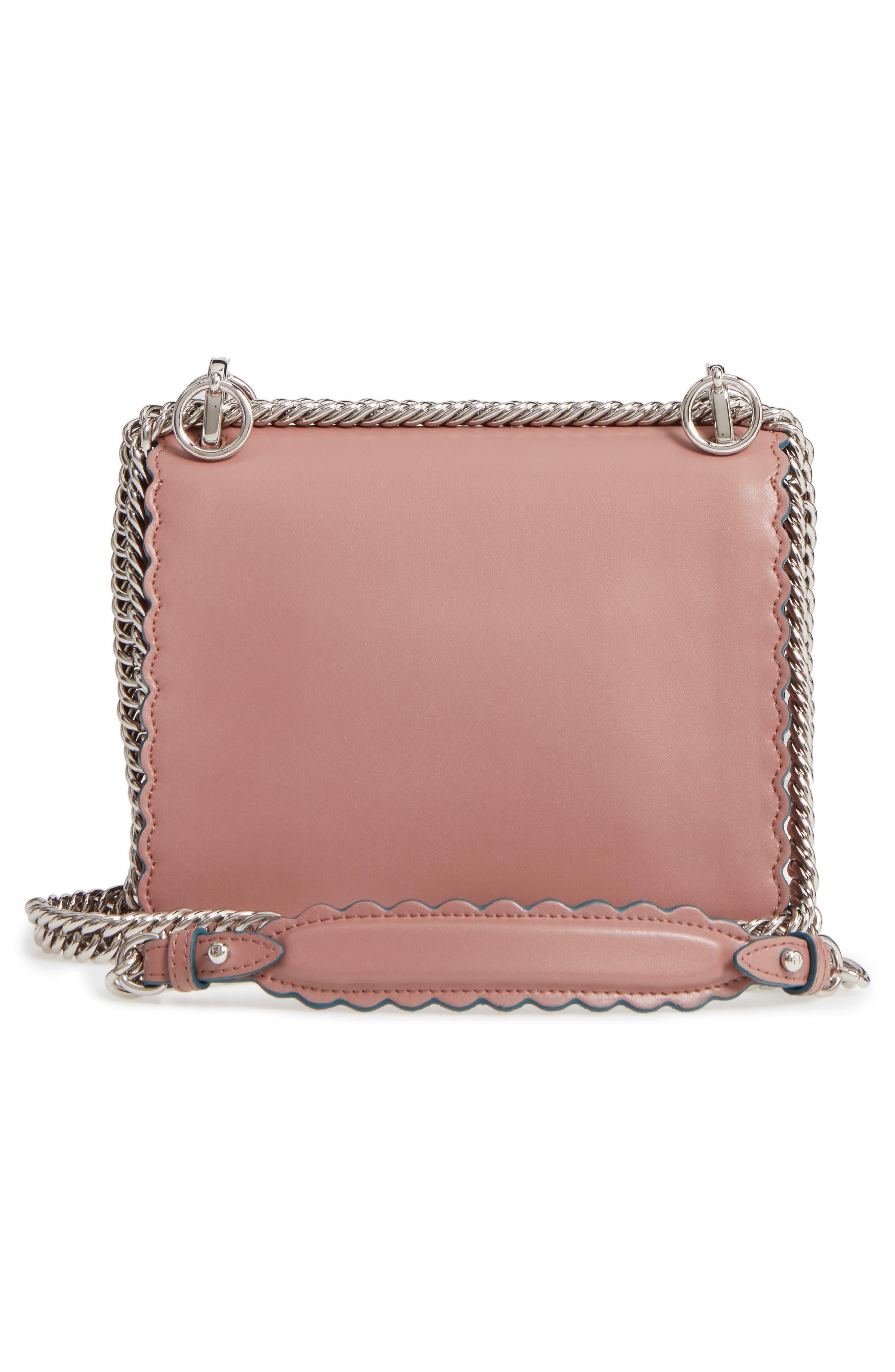Small Kan I Scallop Leather Shoulder Bag,                             Alternate thumbnail 5, color,