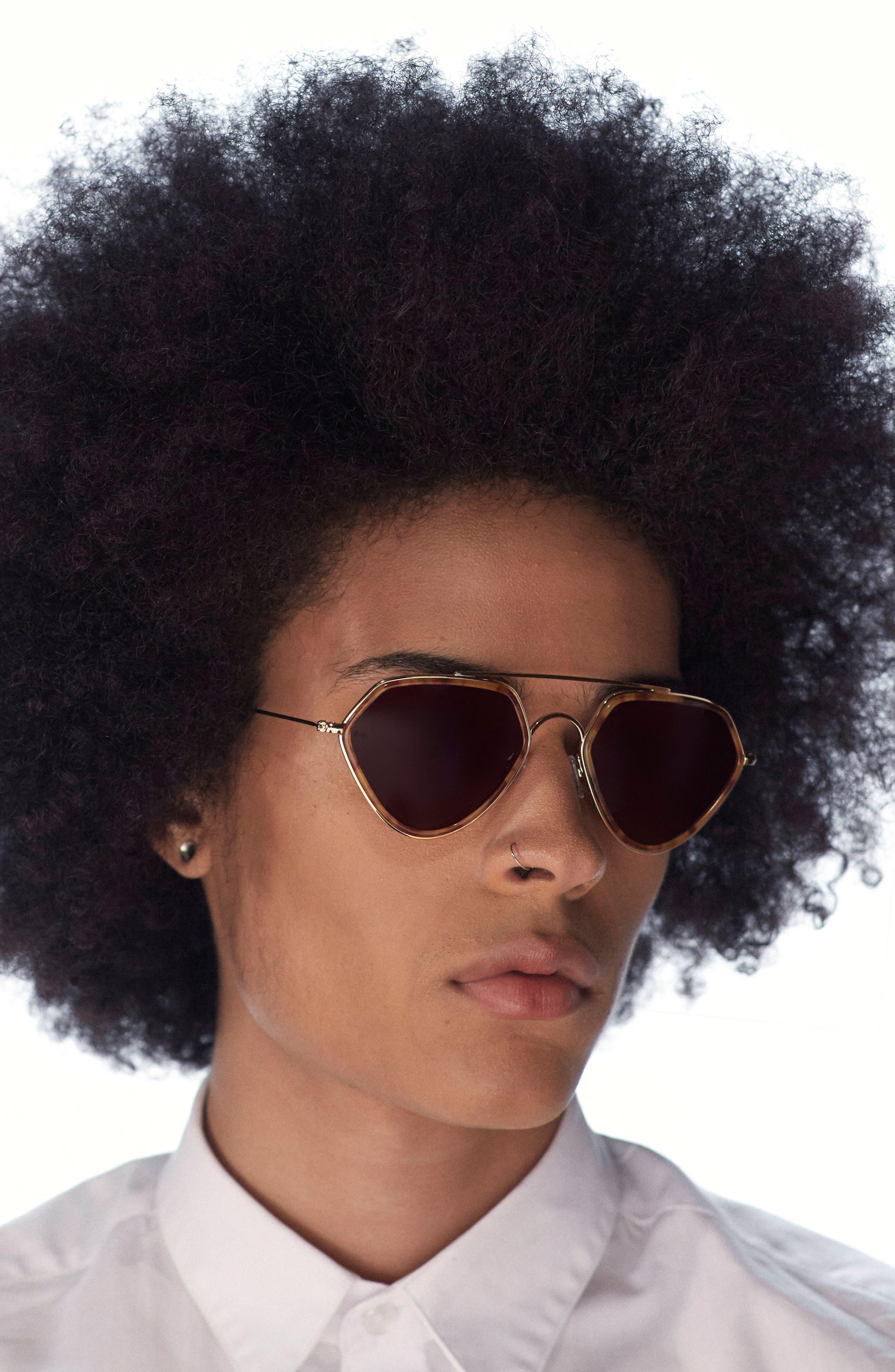 Geo 2 53mm Retro Sunglasses,                             Alternate thumbnail 2, color,                             206