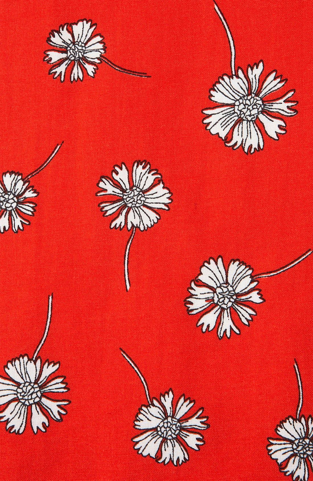 Daisy Print Dress,                             Alternate thumbnail 3, color,                             600