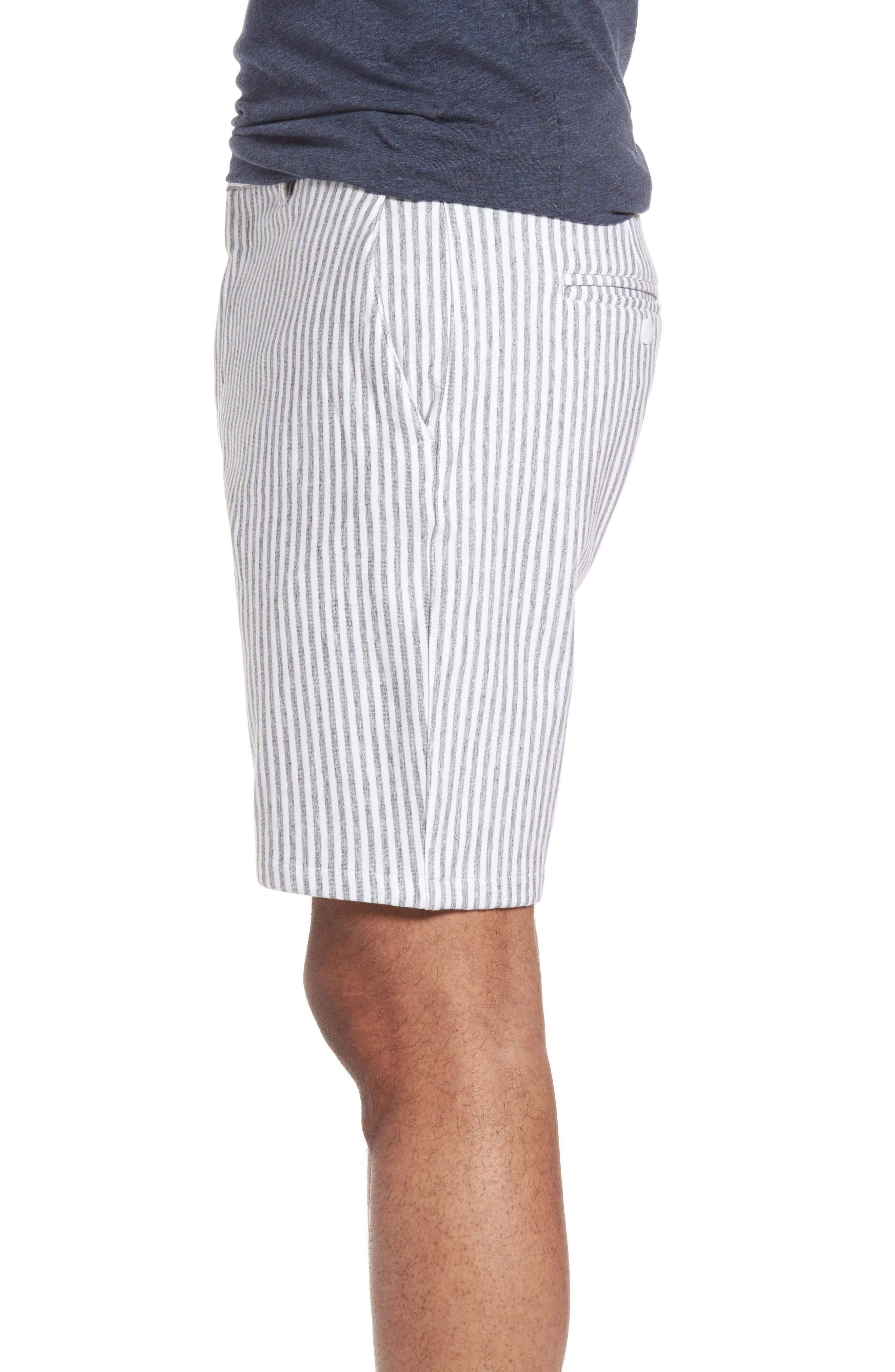 Stripe French Terry Shorts,                             Alternate thumbnail 3, color,