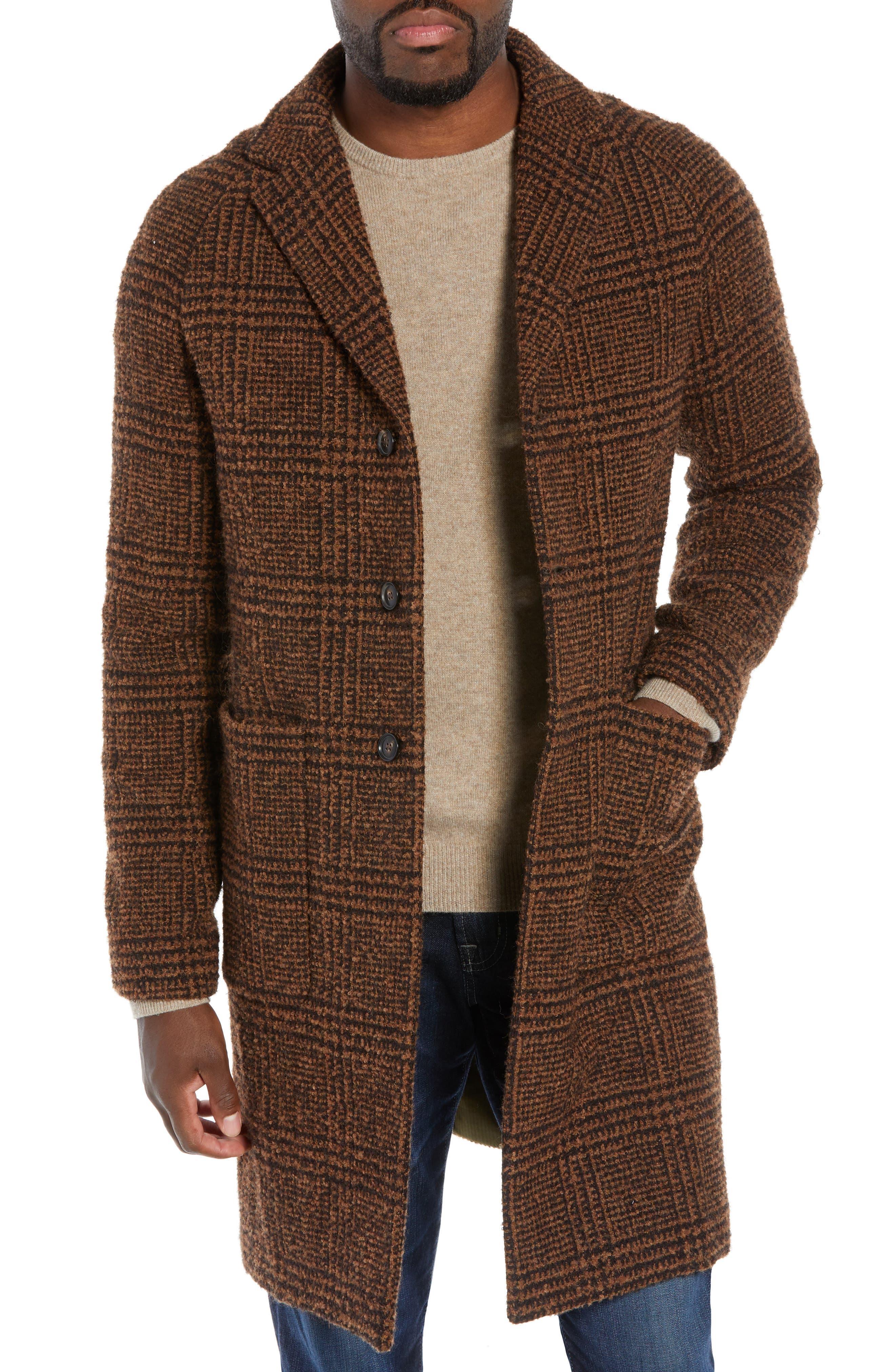TODD SNYDER Glen Plaid Bouclé Topcoat, Main, color, 200