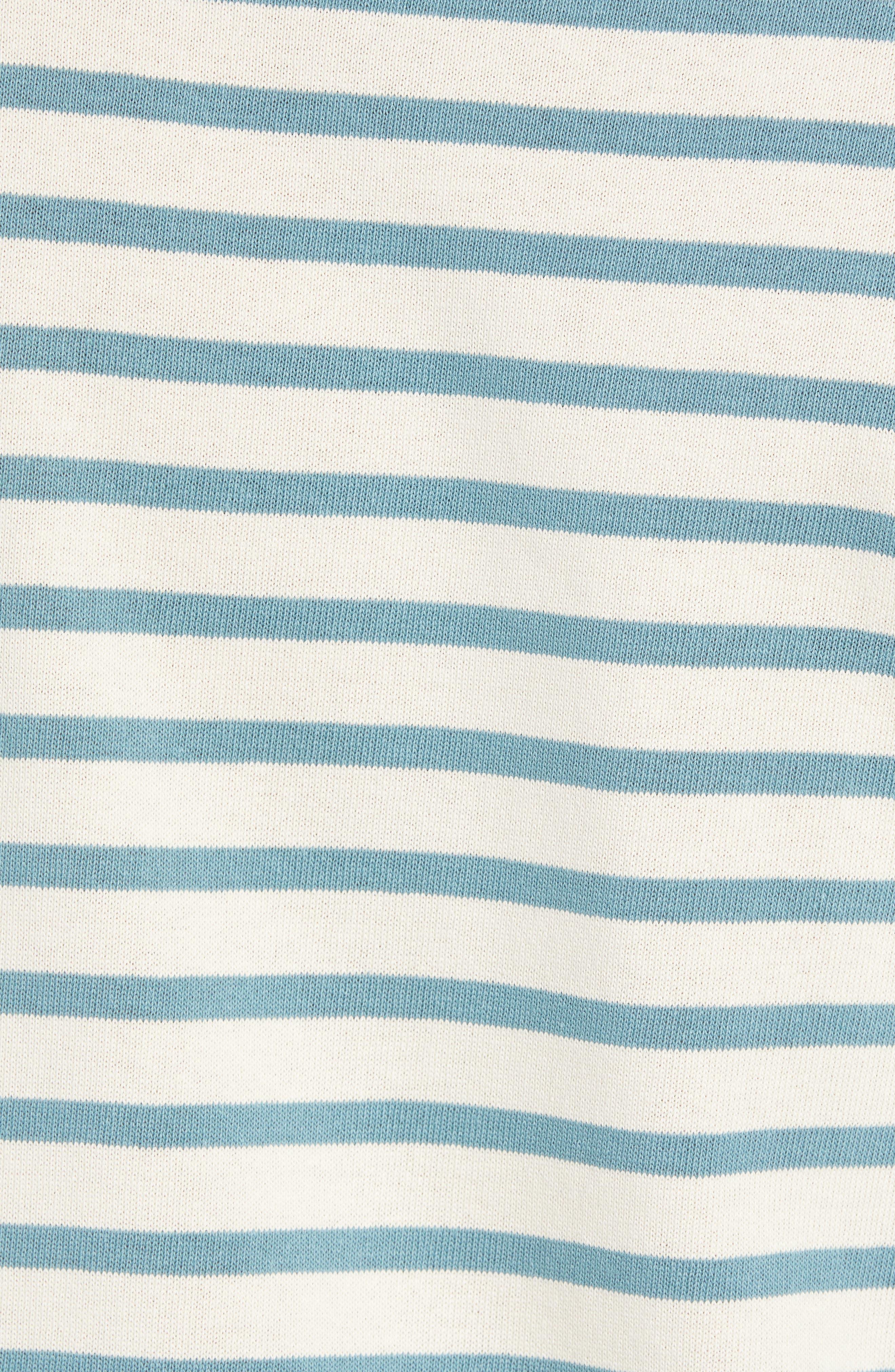 Striped Mock Neck T-Shirt,                             Alternate thumbnail 5, color,                             900