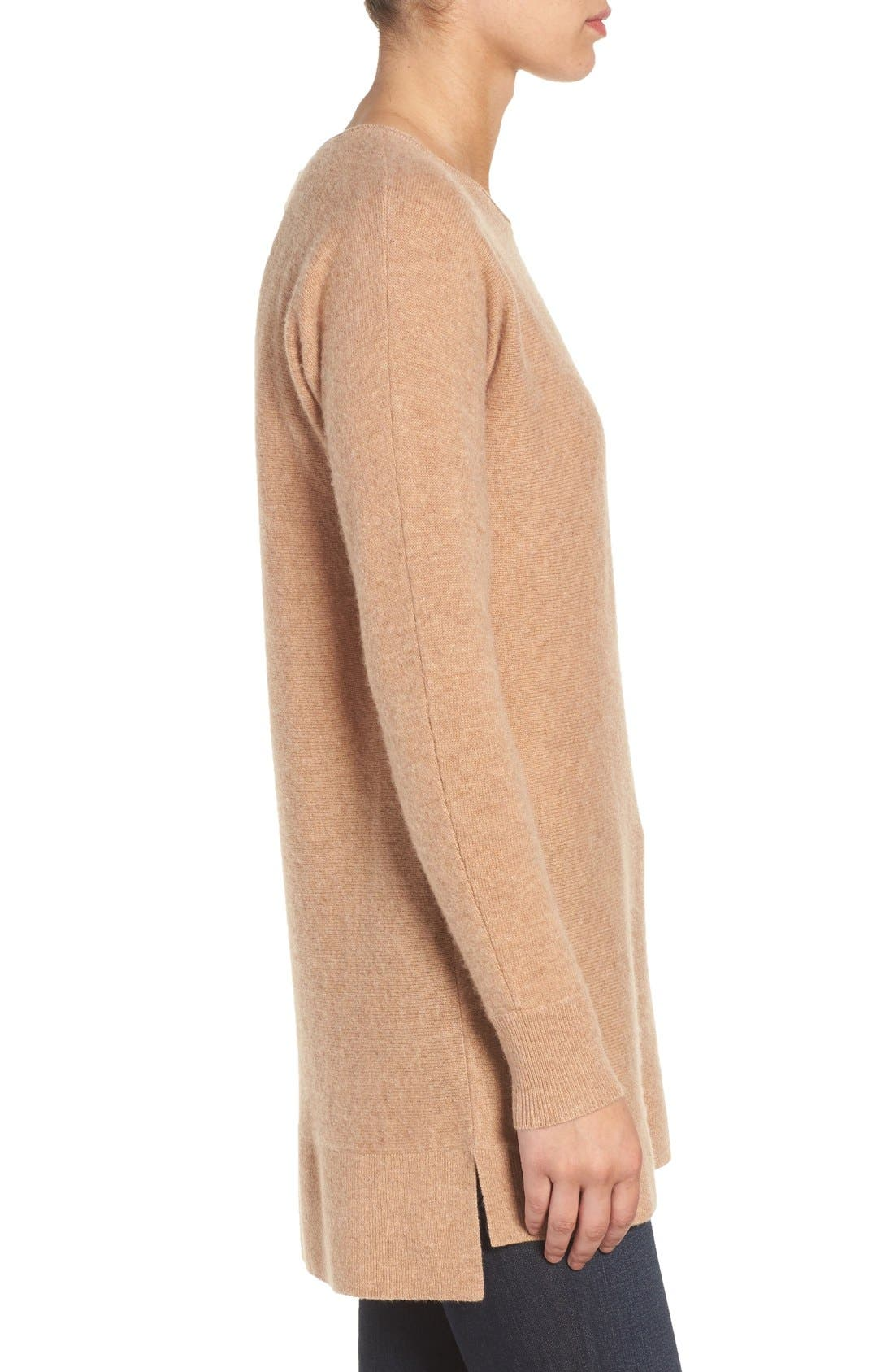 High/Low Wool & Cashmere Tunic Sweater,                             Alternate thumbnail 113, color,