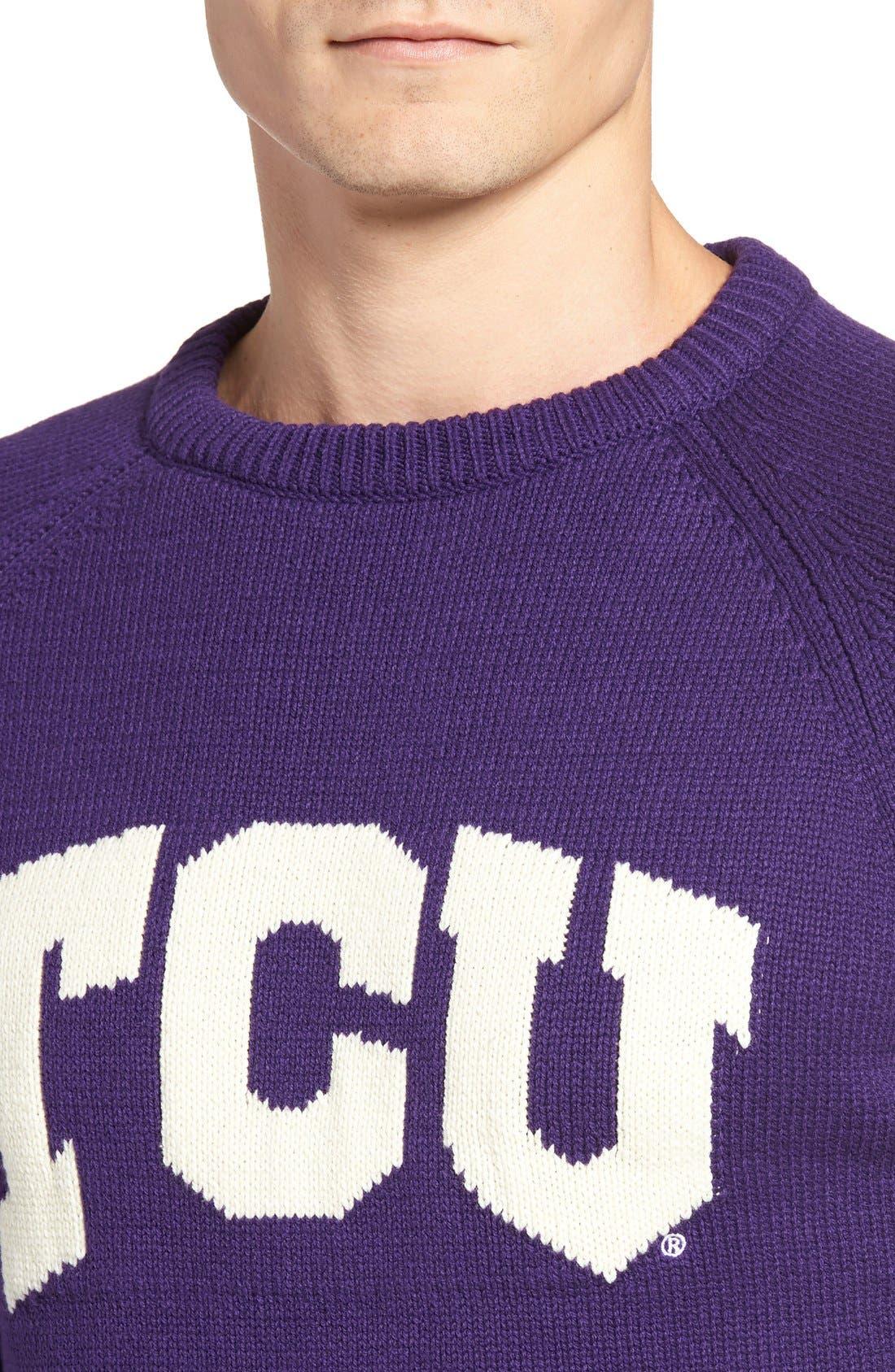 HILLFLINT,                             TCU Heritage Sweater,                             Alternate thumbnail 4, color,                             500