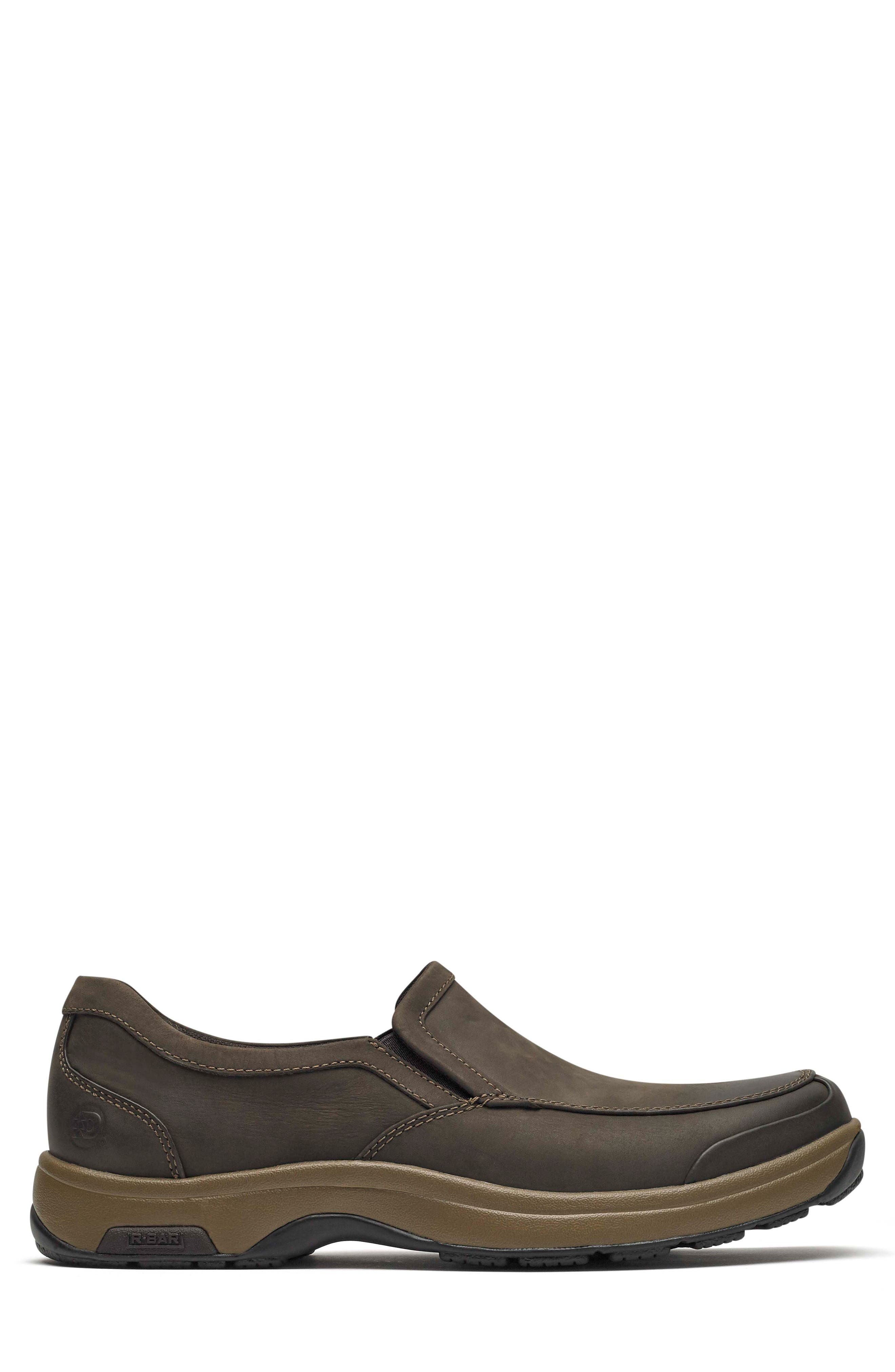 Battery Park Waterproof Slip-On,                             Alternate thumbnail 3, color,                             BROWN LEATHER