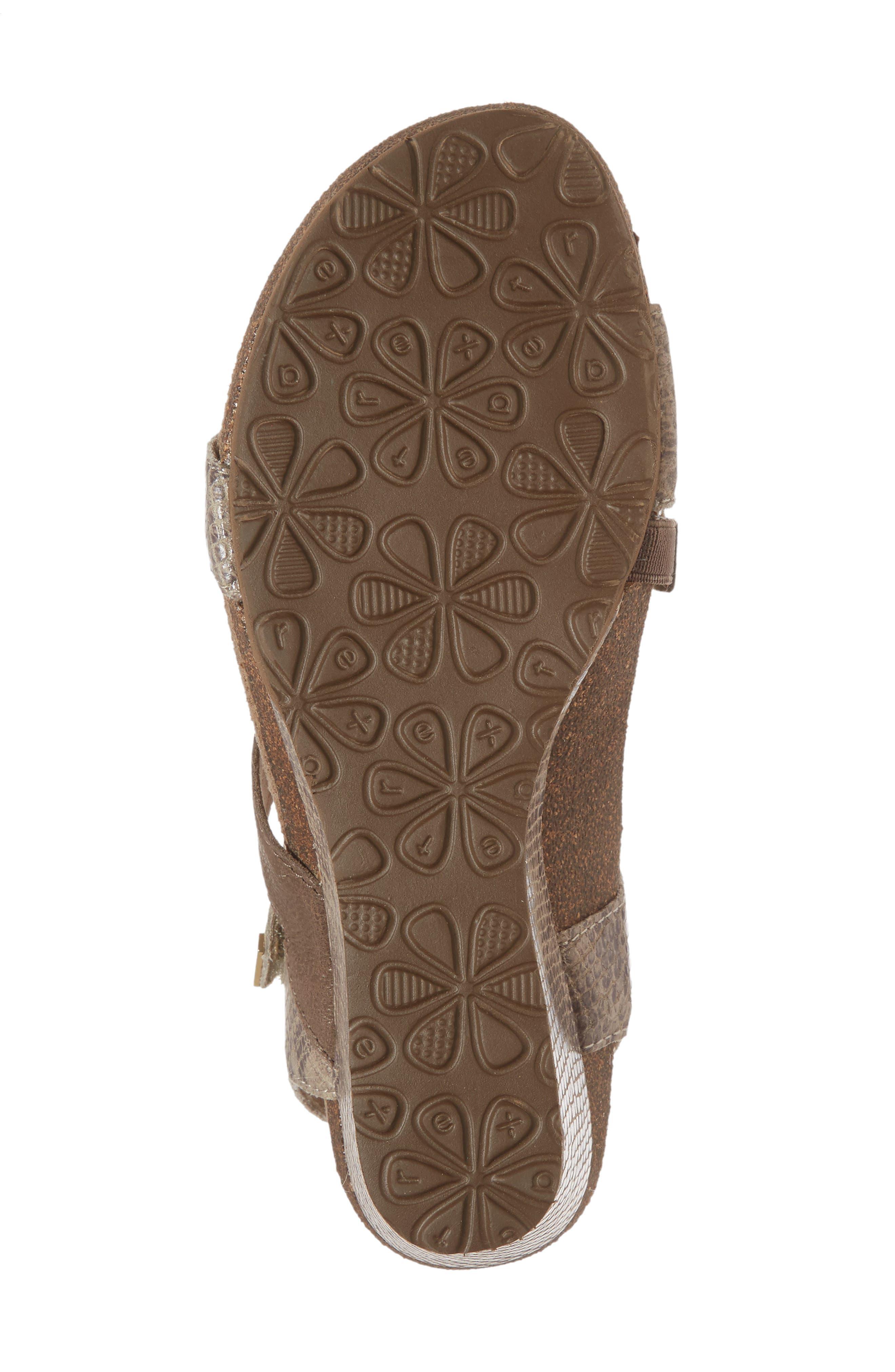 AETREX,                             Brynn Asymmetrical Wedge Sandal,                             Alternate thumbnail 6, color,                             STONE SNAKE LEATHER