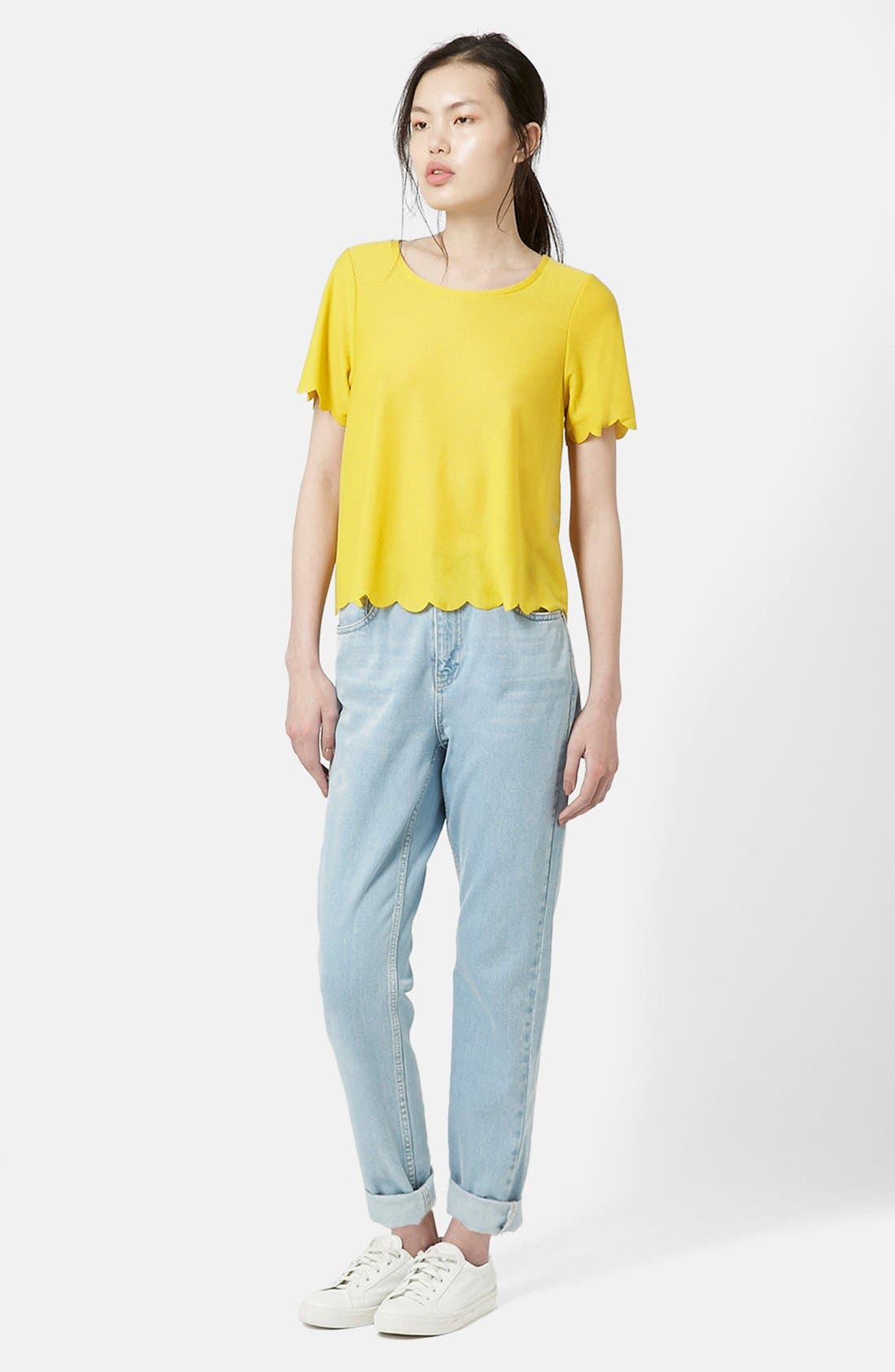 Scallop Frill Tee,                             Alternate thumbnail 49, color,