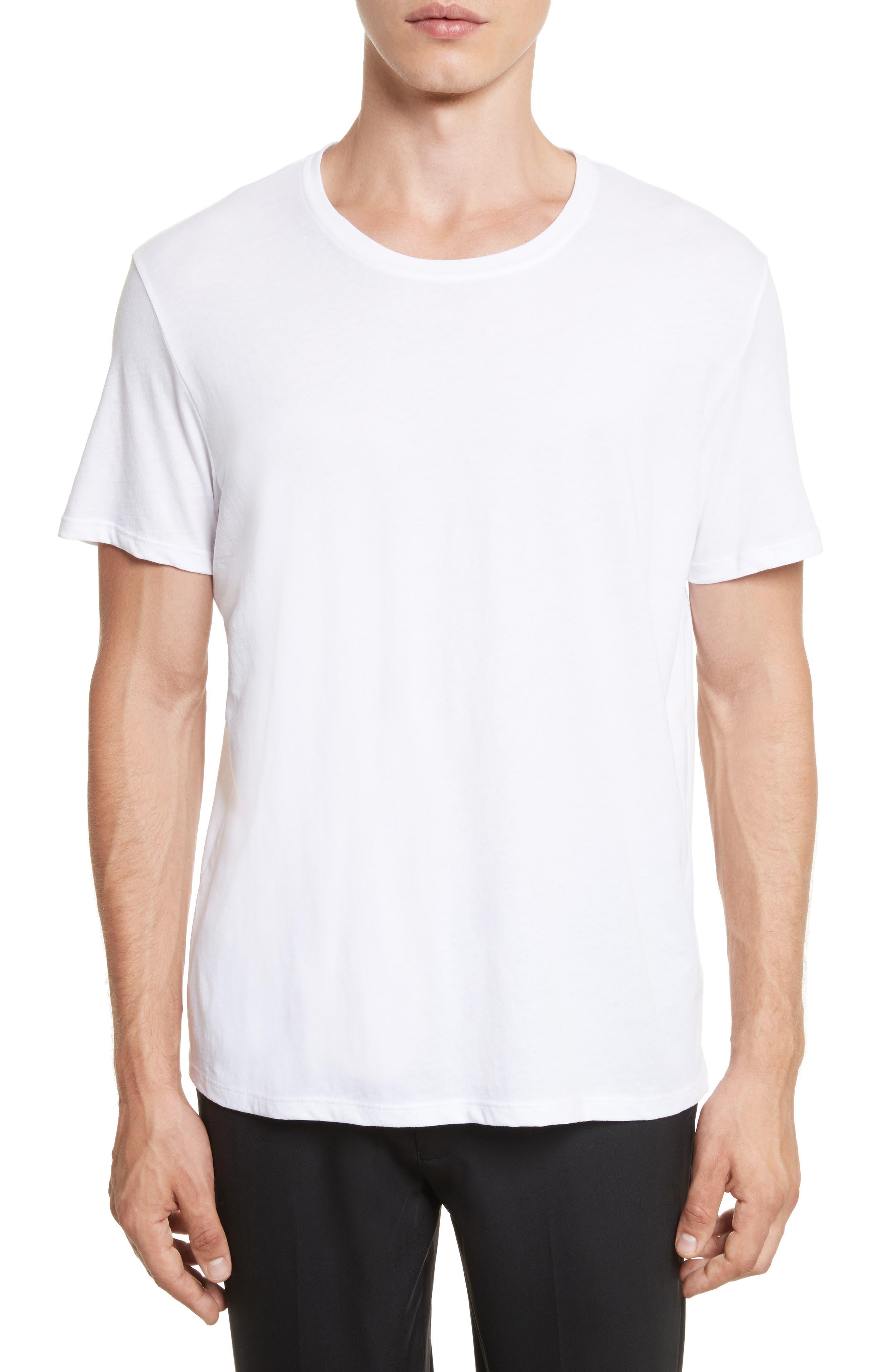 Cotton Jersey T-Shirt,                         Main,                         color, WHITE