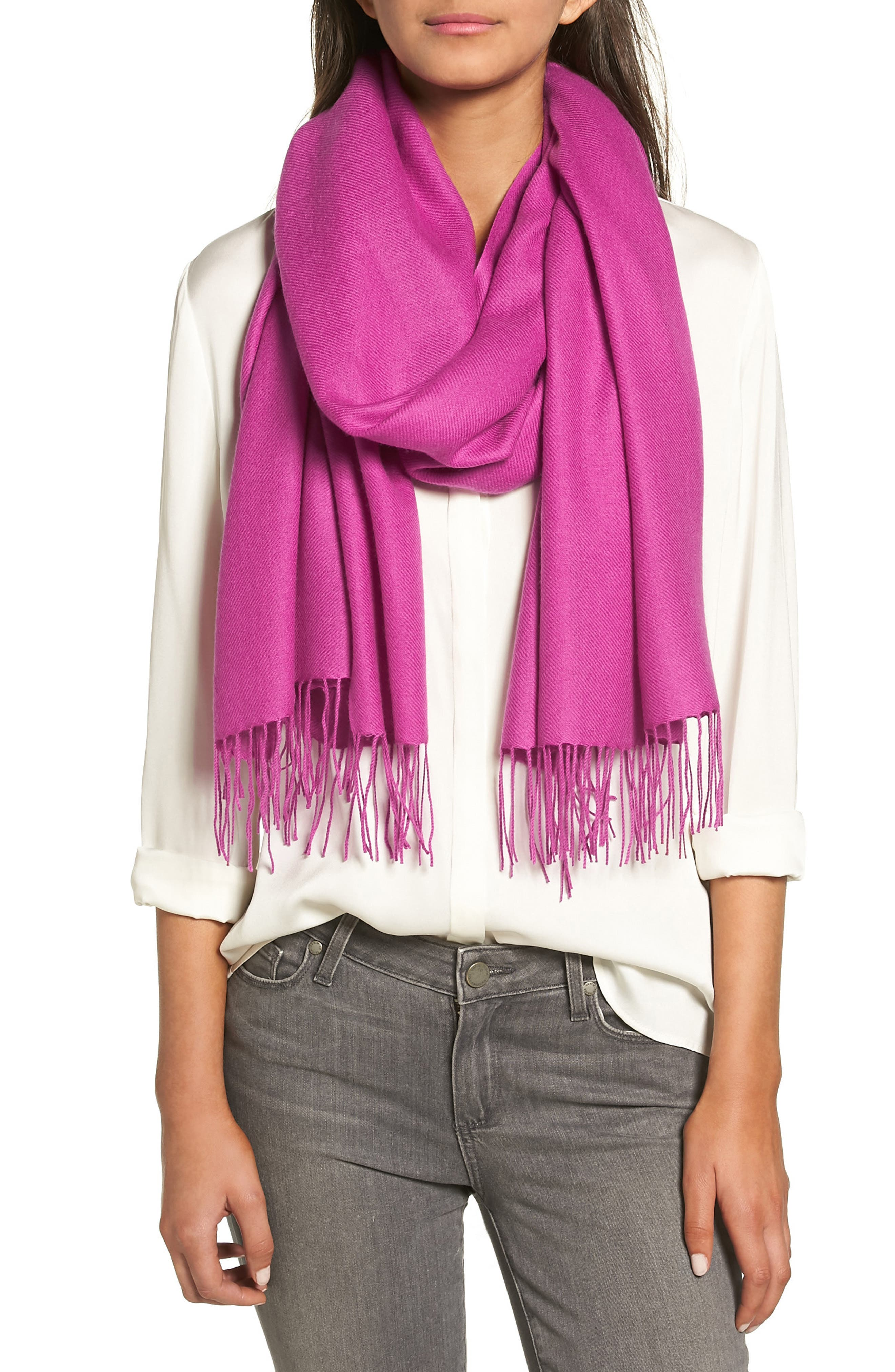 Tissue Weight Wool & Cashmere Scarf,                             Main thumbnail 49, color,
