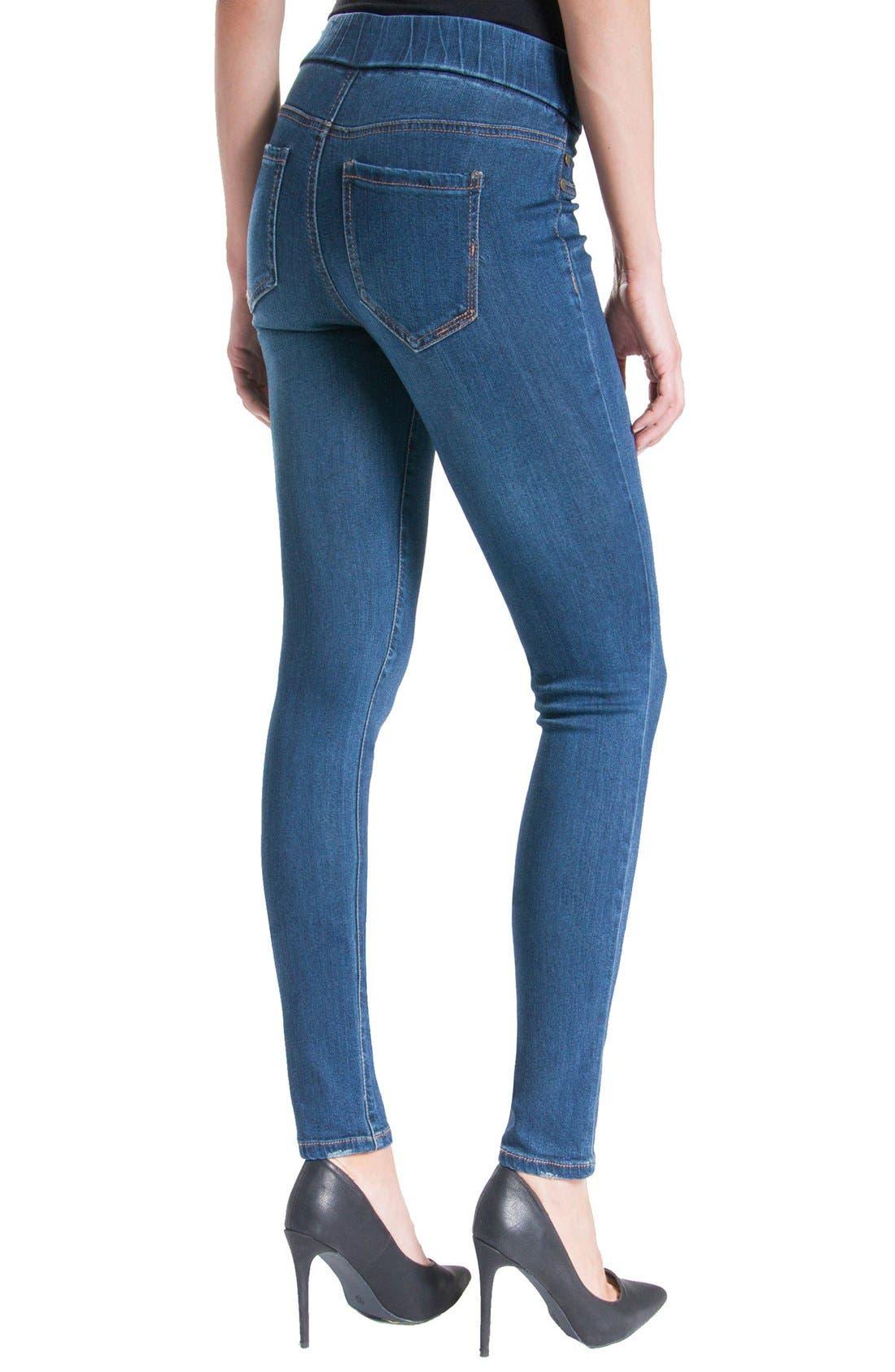 Jeans Company Sienna Mid Rise Soft Stretch Denim Leggings,                             Alternate thumbnail 14, color,