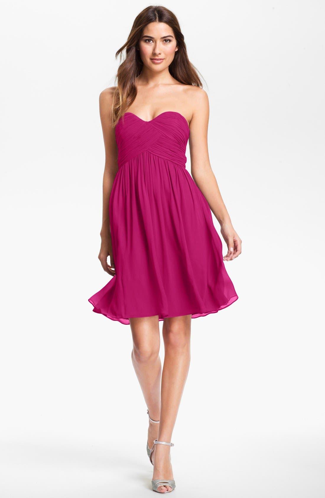 'Morgan' Strapless Silk Chiffon Dress,                             Alternate thumbnail 121, color,