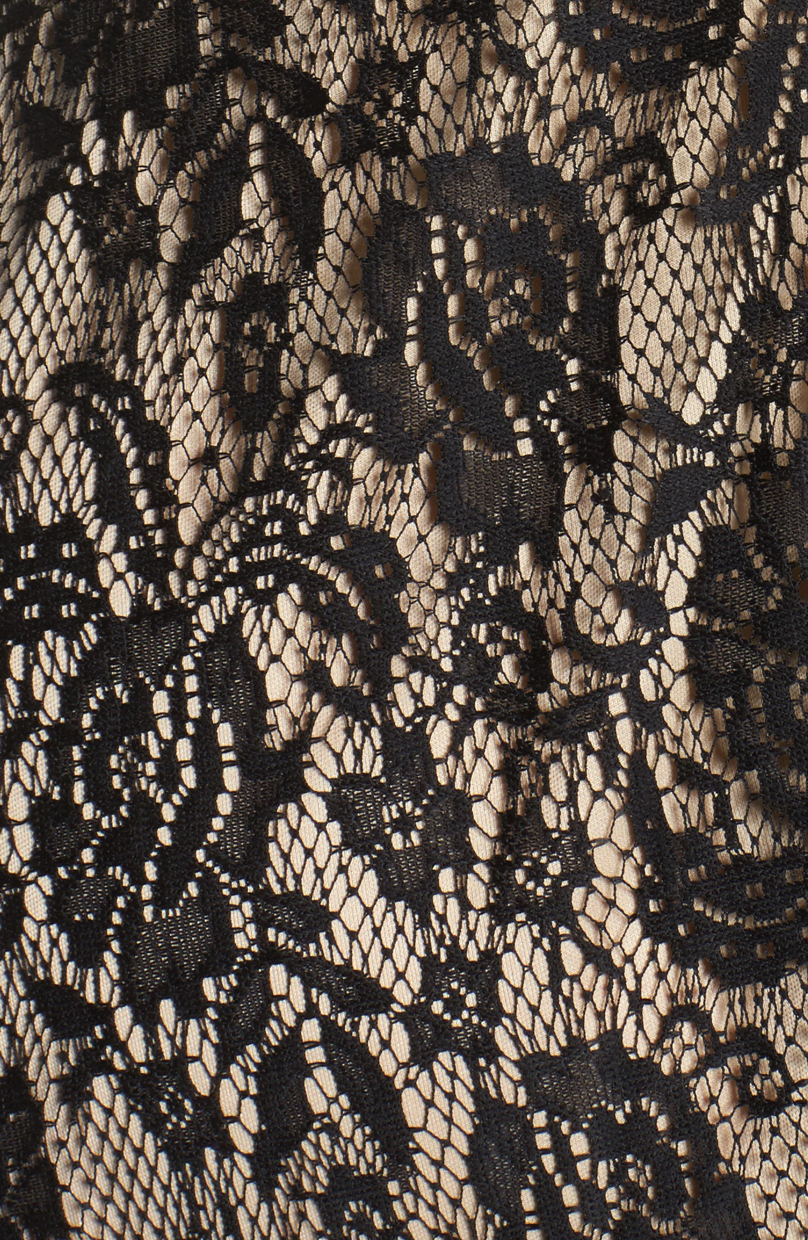Tie Waist Lace Dress,                             Alternate thumbnail 5, color,