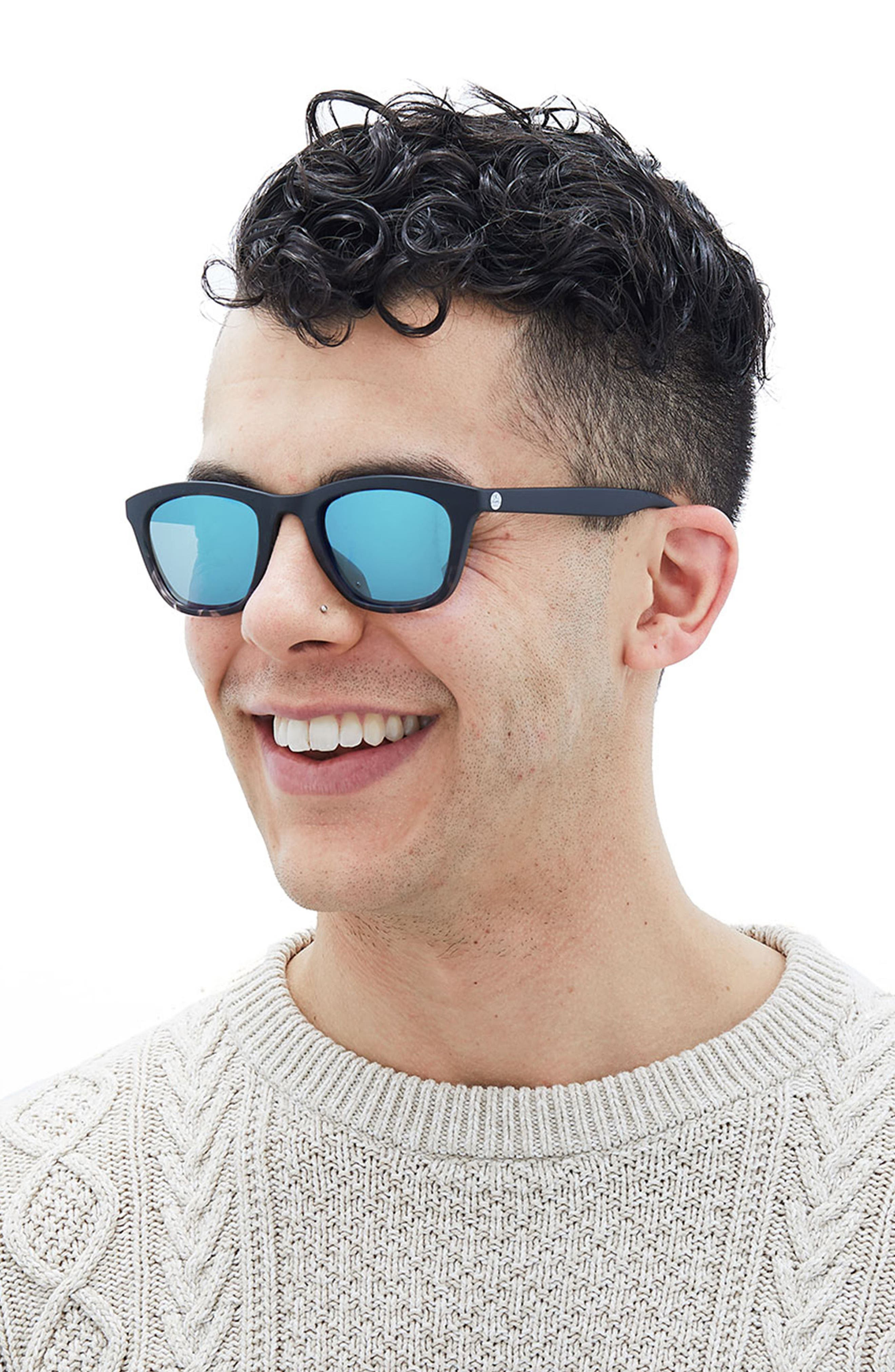 Manresa 49mm Polarized Sunglasses,                             Alternate thumbnail 6, color,                             BLACK TORTOISE SLATE