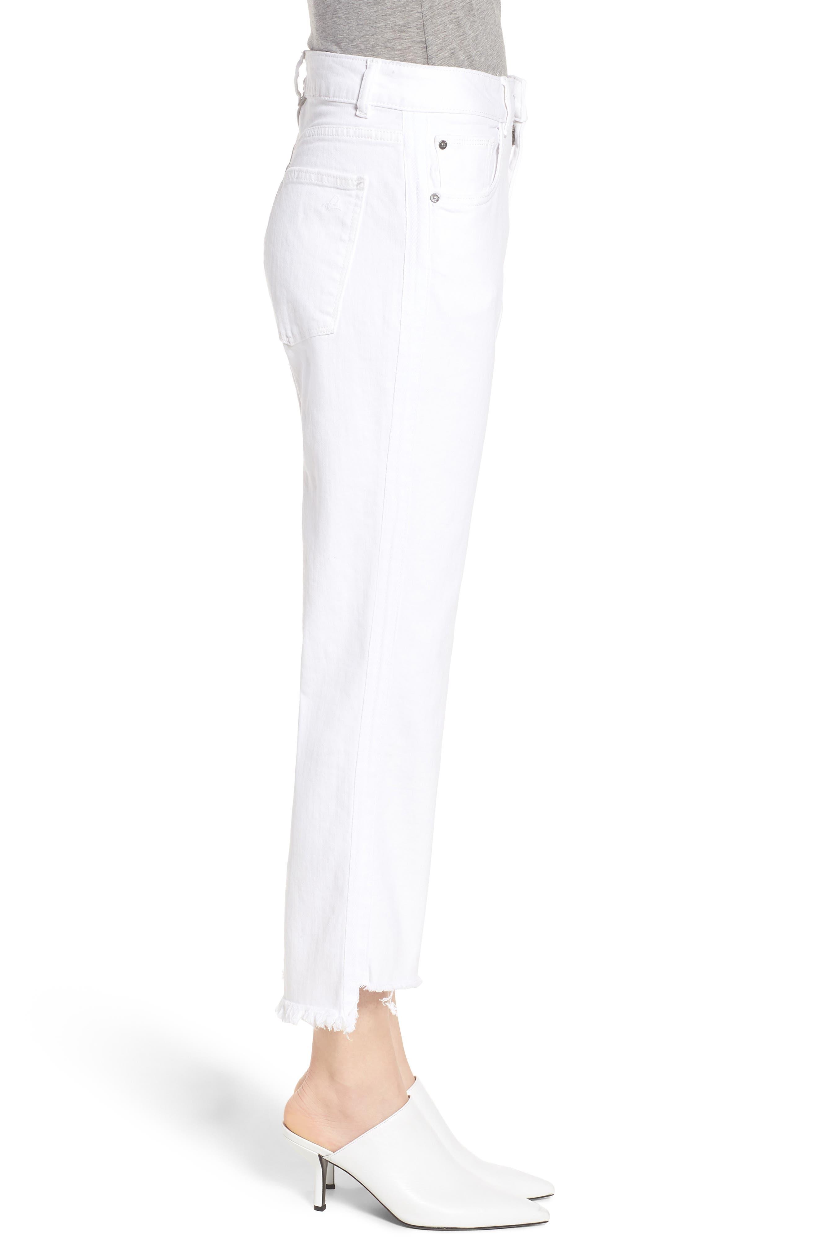 Patti High Waist Crop Straight Leg Jeans,                             Alternate thumbnail 3, color,
