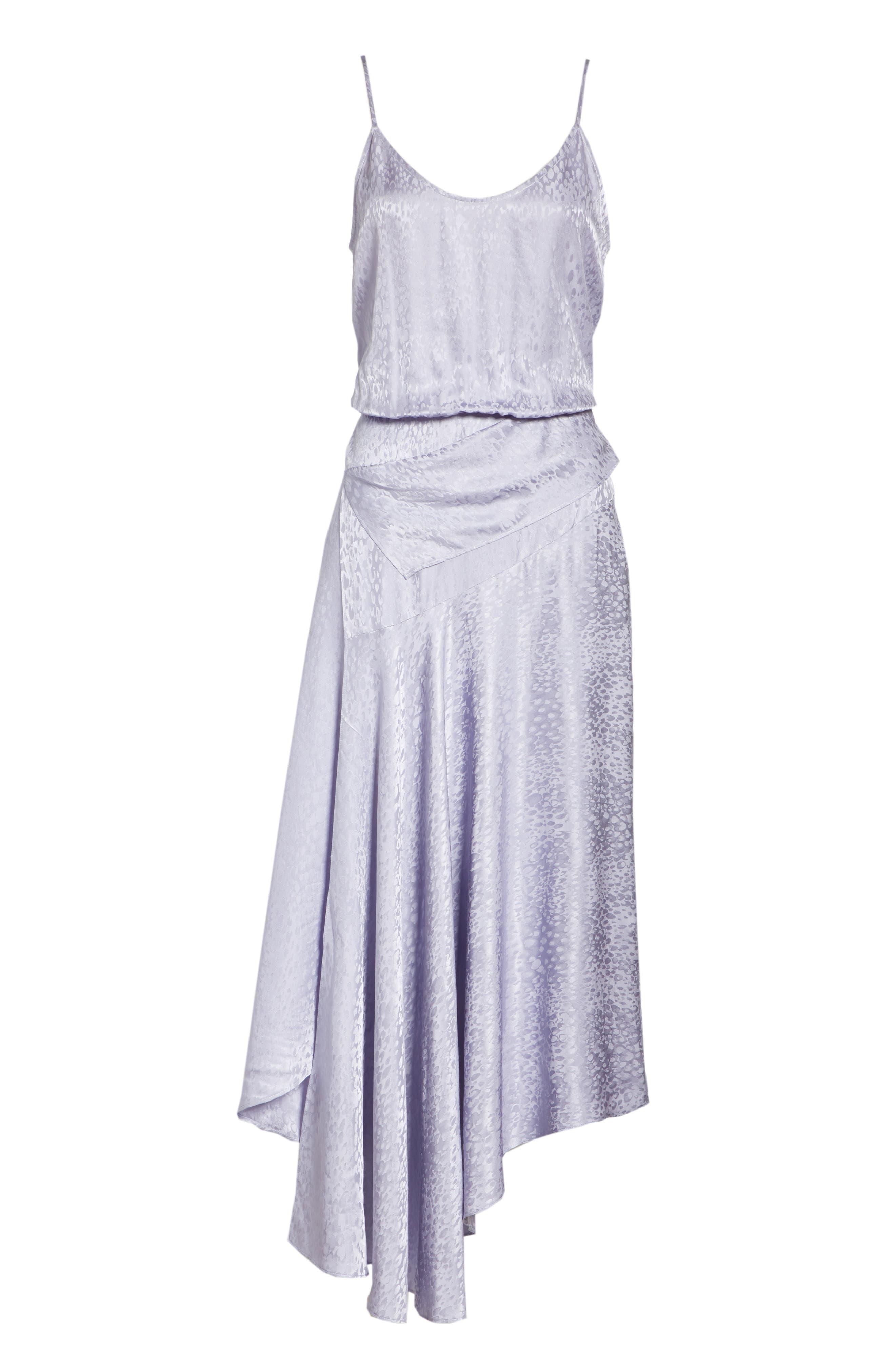 A.L.C.,                             Willa Asymmetrical Silk Jacquard Dress,                             Alternate thumbnail 7, color,                             540