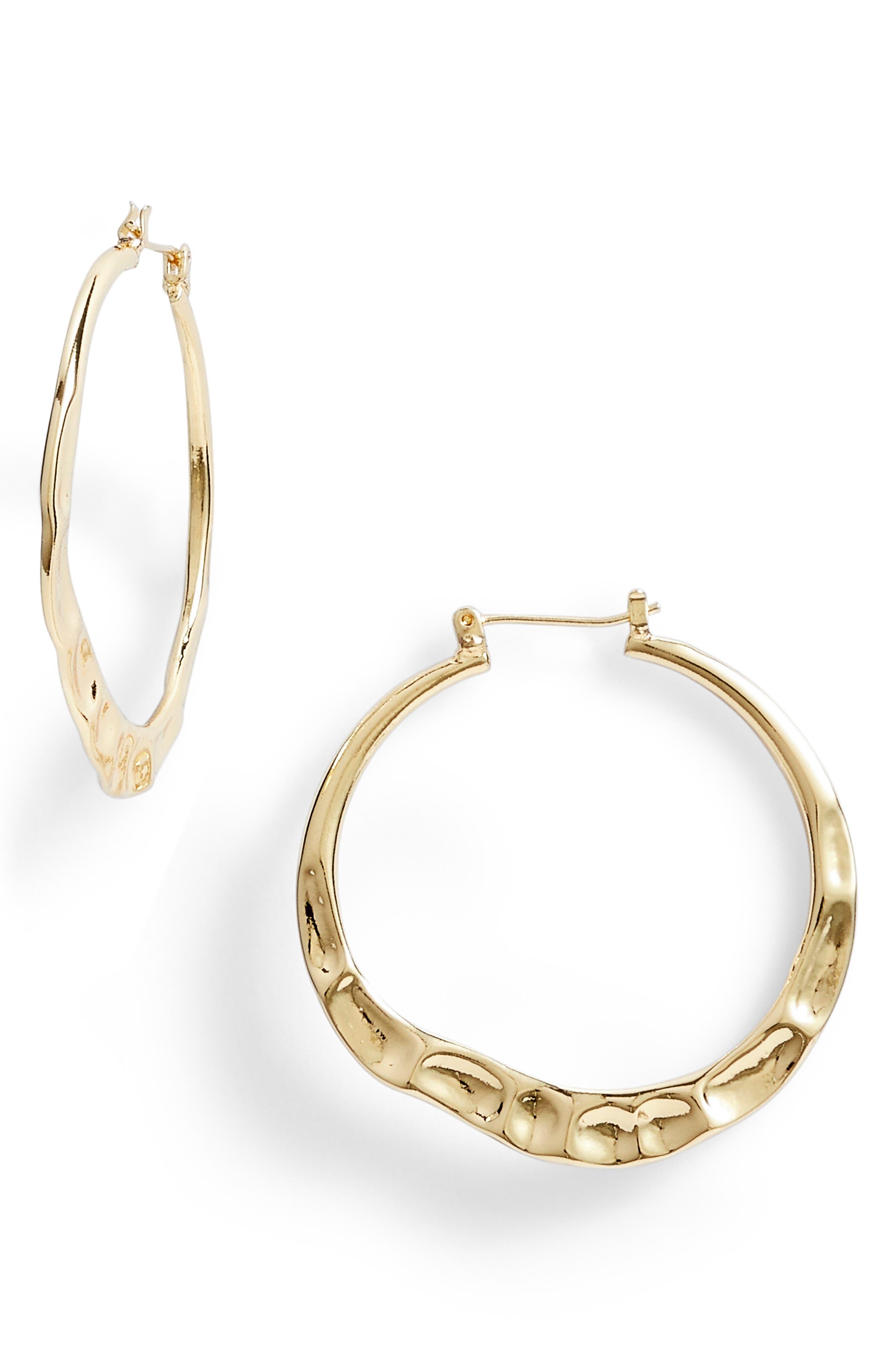 Molten Hoop Earrings,                             Main thumbnail 1, color,                             GOLD