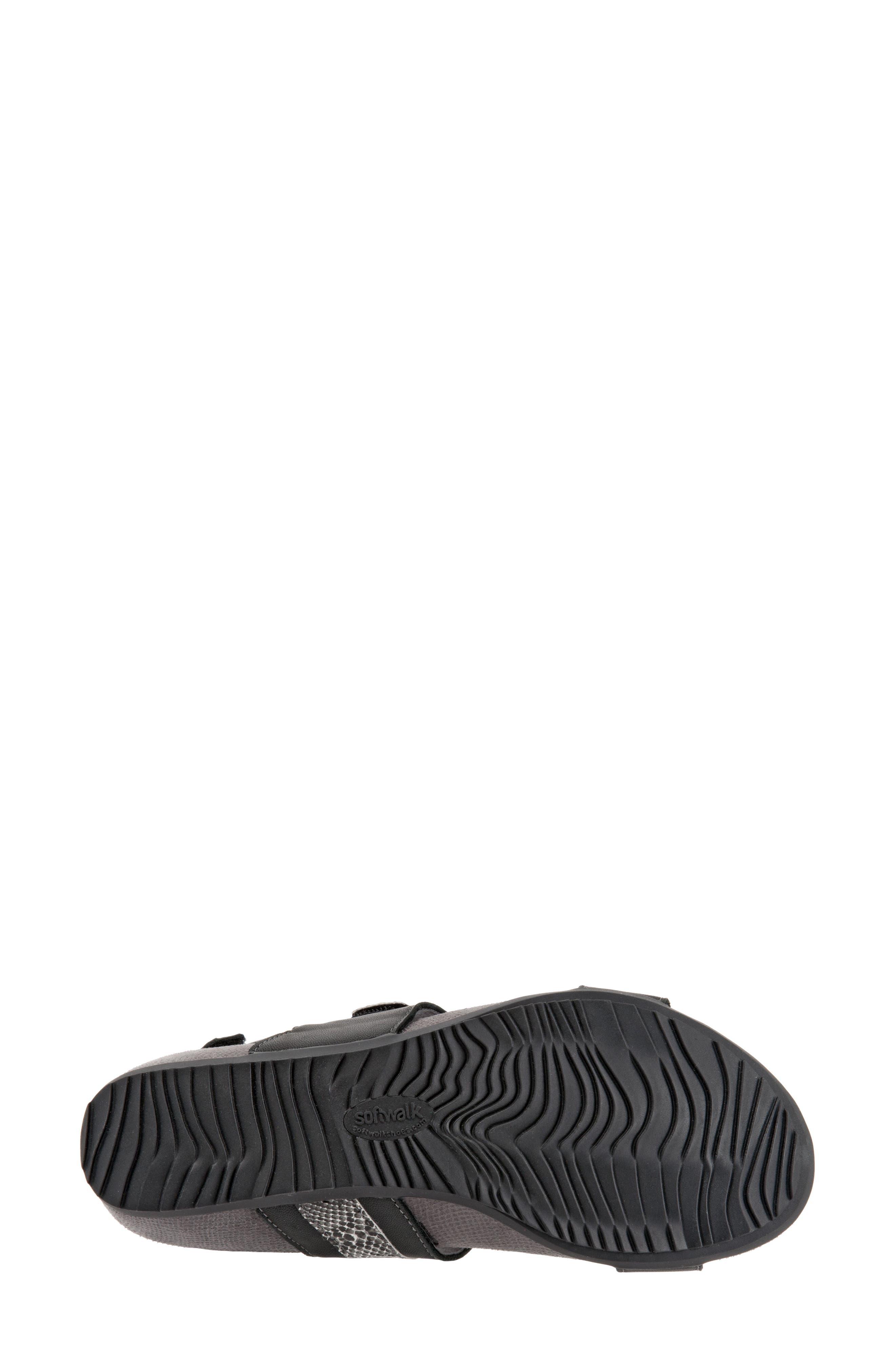 Bimmer Sandal,                             Alternate thumbnail 6, color,                             BLACK LEATHER
