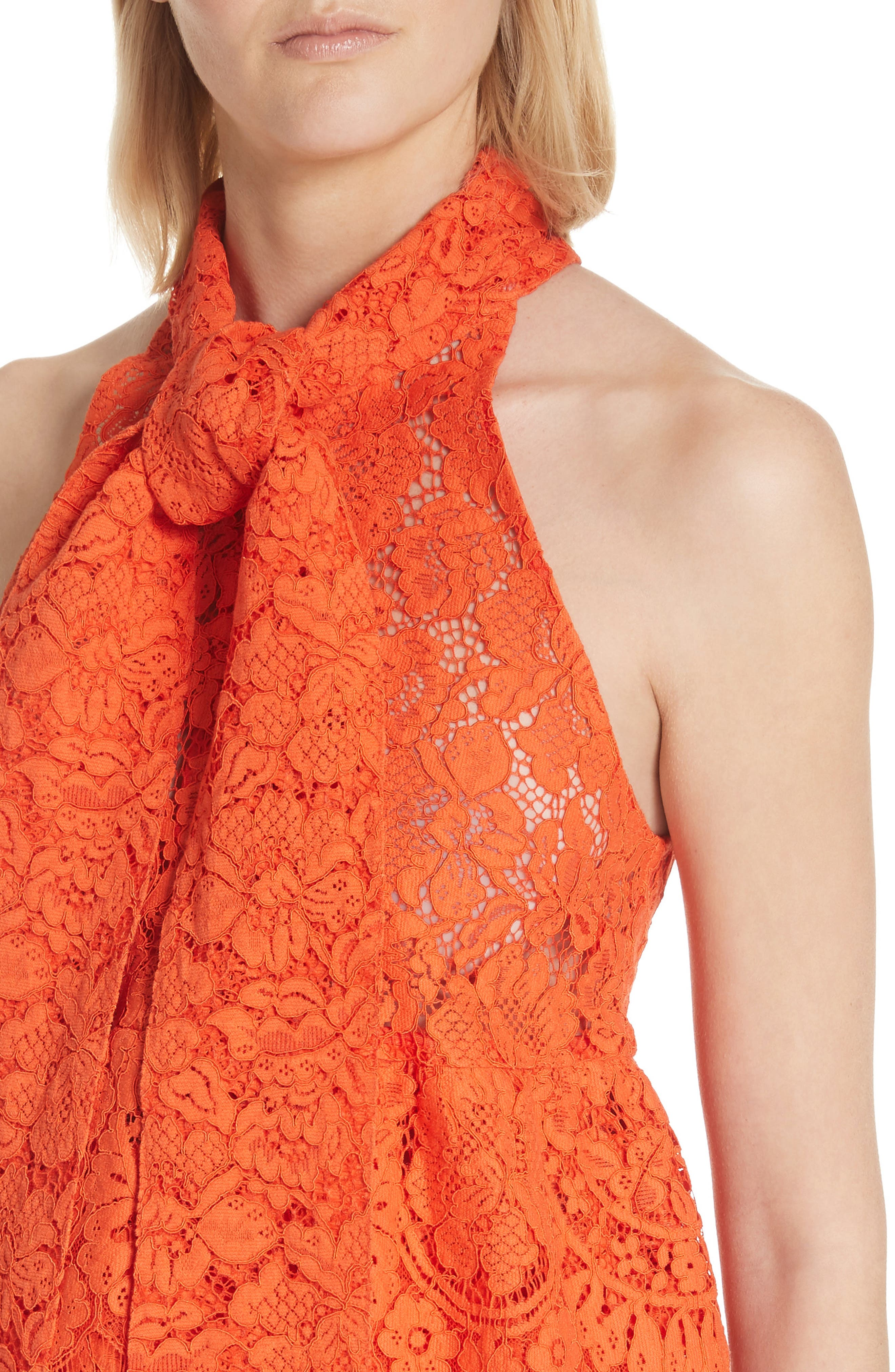 Jerome Lace Top,                             Alternate thumbnail 4, color,                             BIG APPLE RED