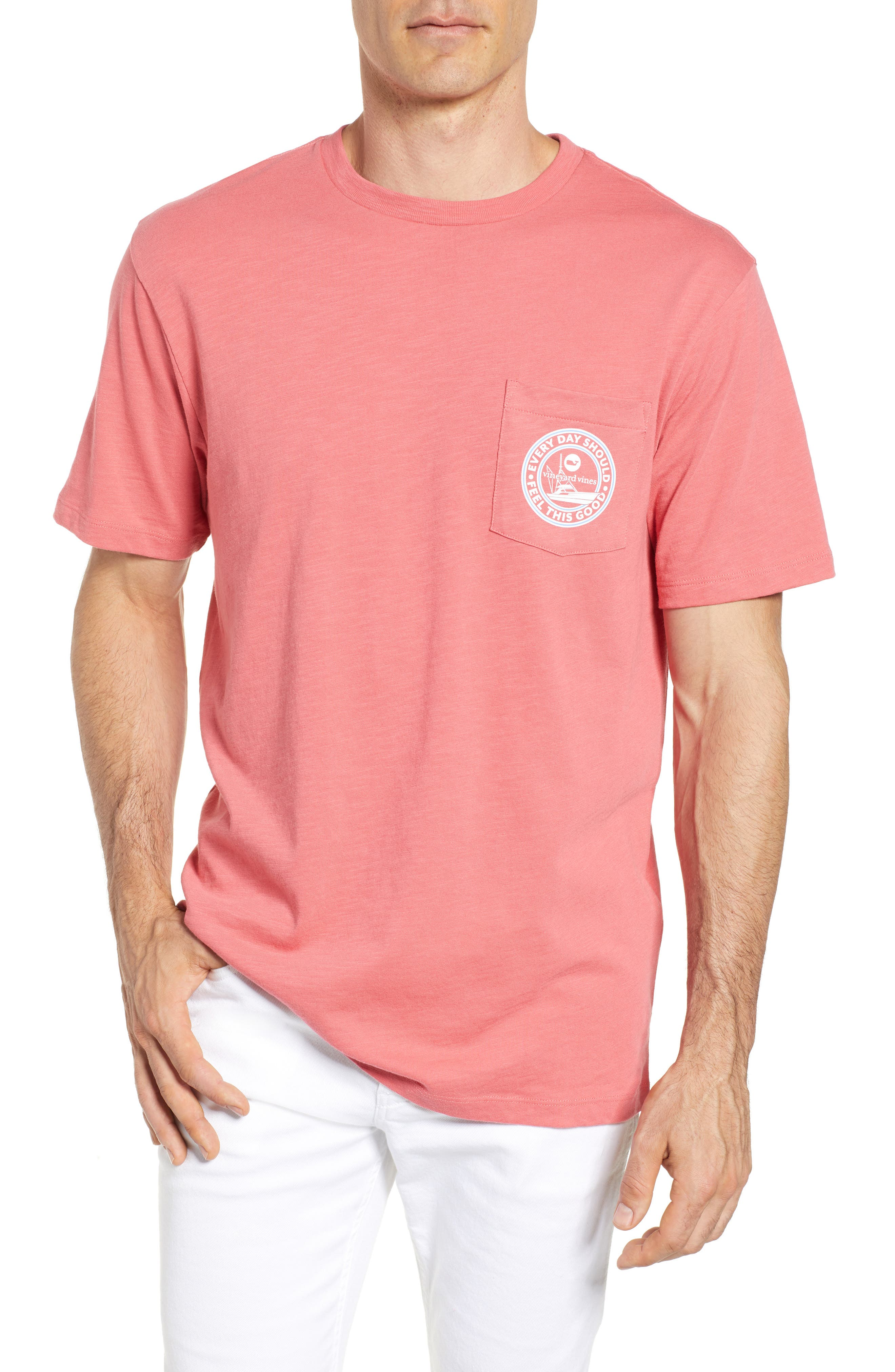 VINEYARD VINES,                             Every Day Should Feel This Good Pocket T-Shirt,                             Main thumbnail 1, color,                             628