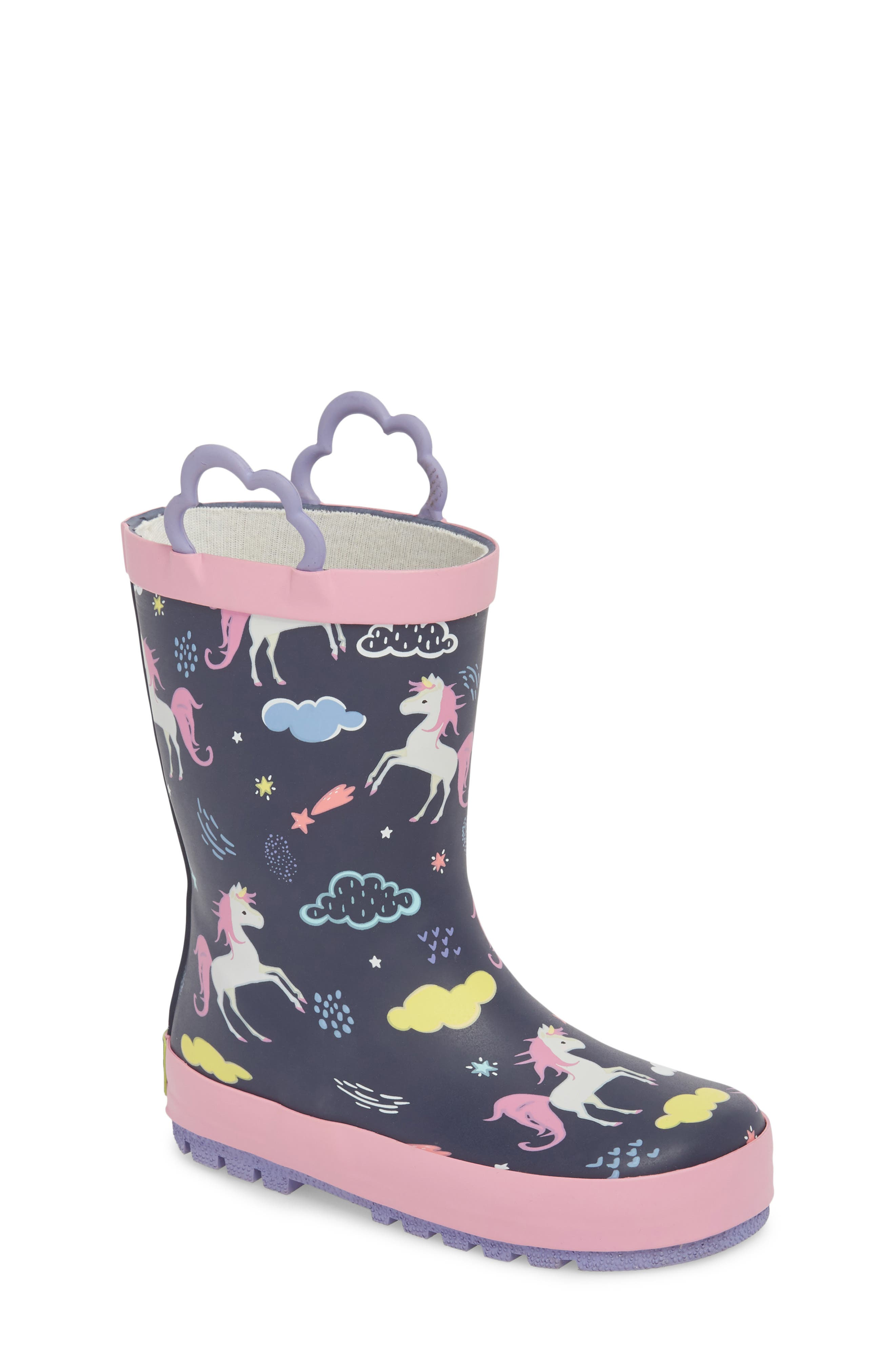 Unicorn Play Waterproof Rain Boot,                         Main,                         color, 421