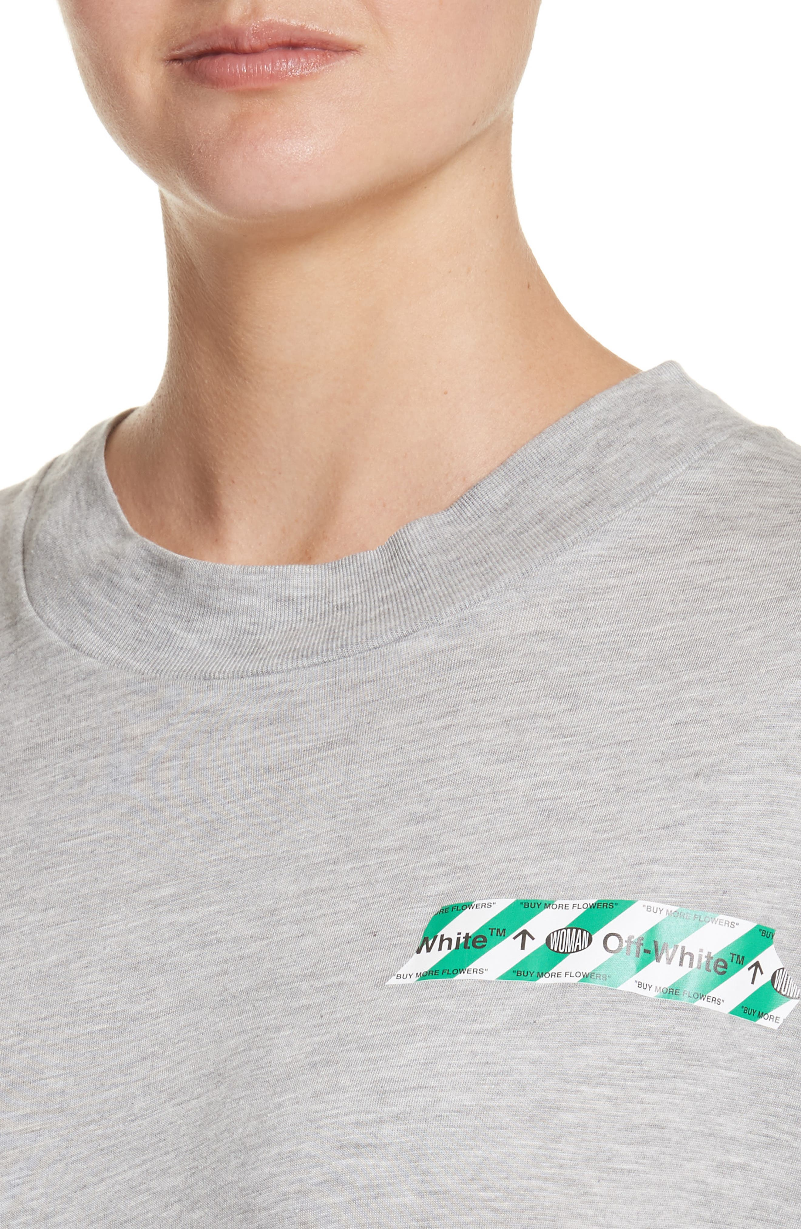 Woman Tape New over Tee,                             Alternate thumbnail 4, color,                             020