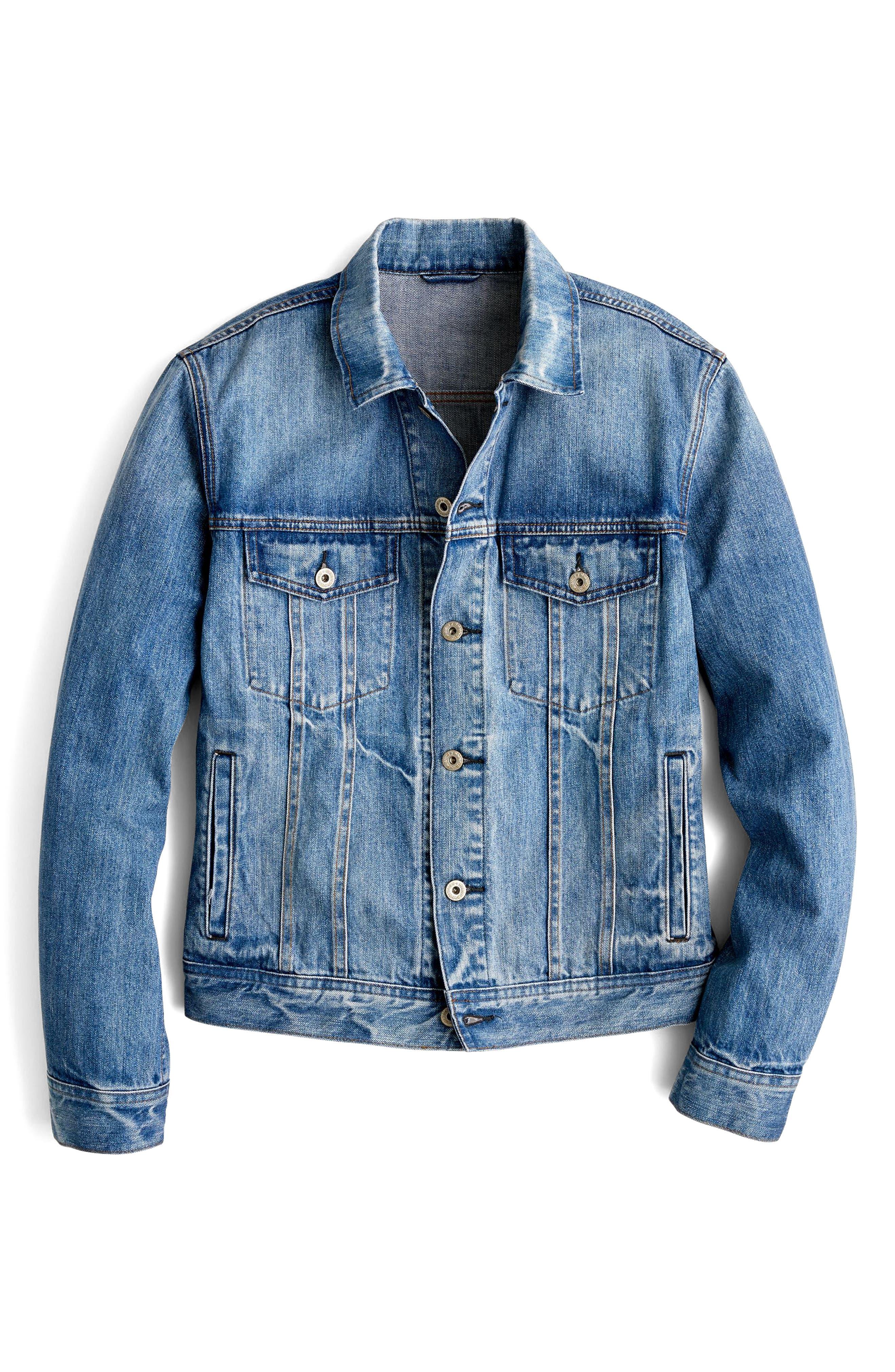 Denim Jacket,                             Alternate thumbnail 4, color,                             404