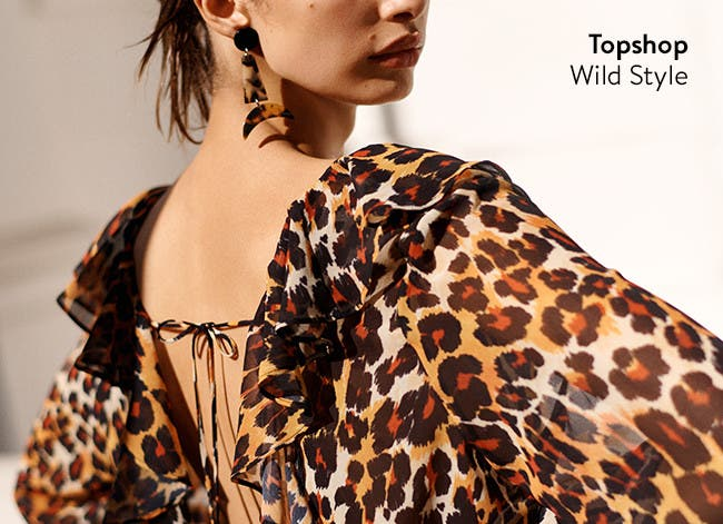 Topshop: wild style prints.