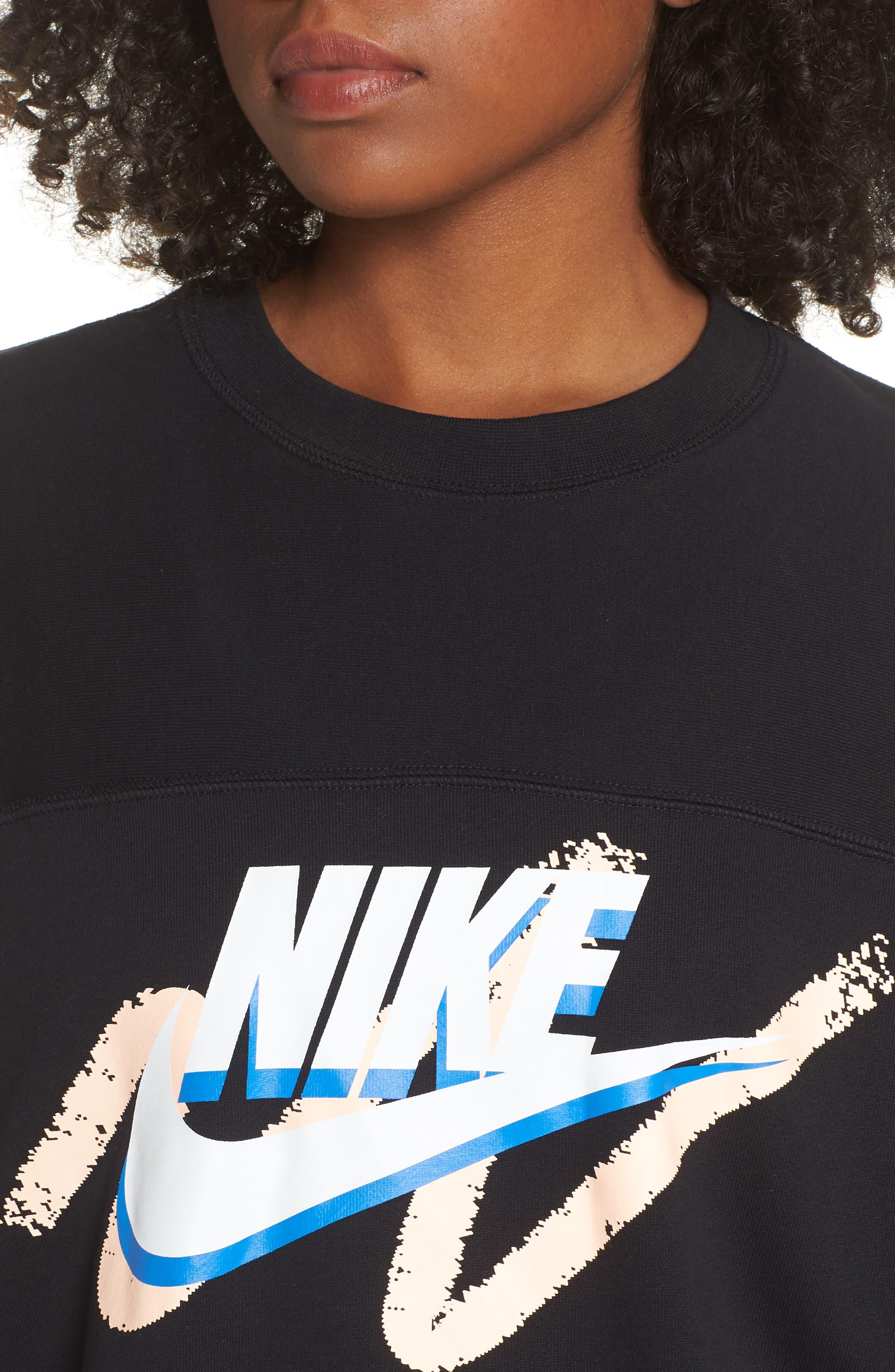 Archive Sweatshirt,                             Alternate thumbnail 4, color,                             BLACK/ BLACK/ BLACK