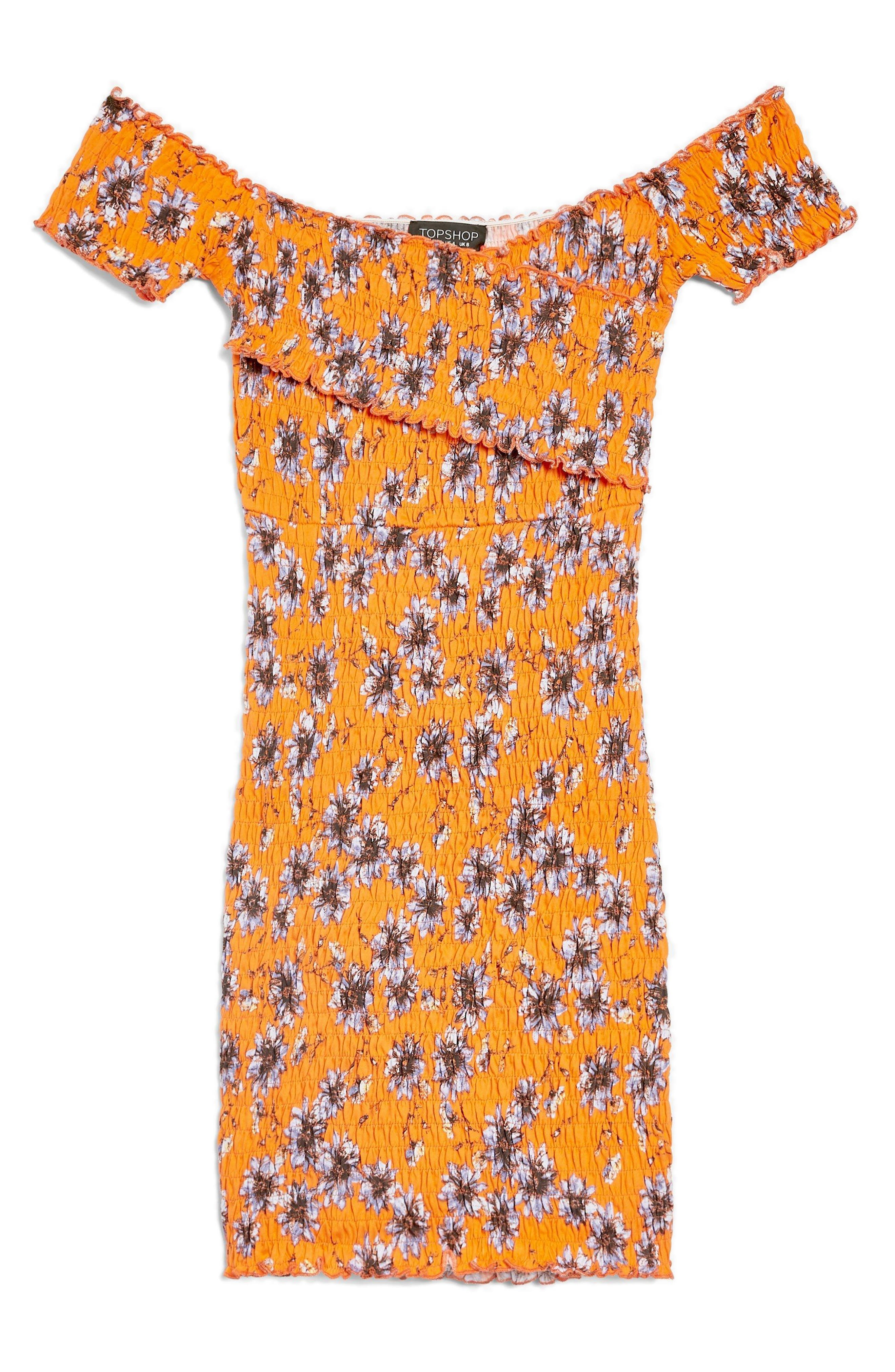Off the Shoulder Body-Con Dress,                             Alternate thumbnail 4, color,