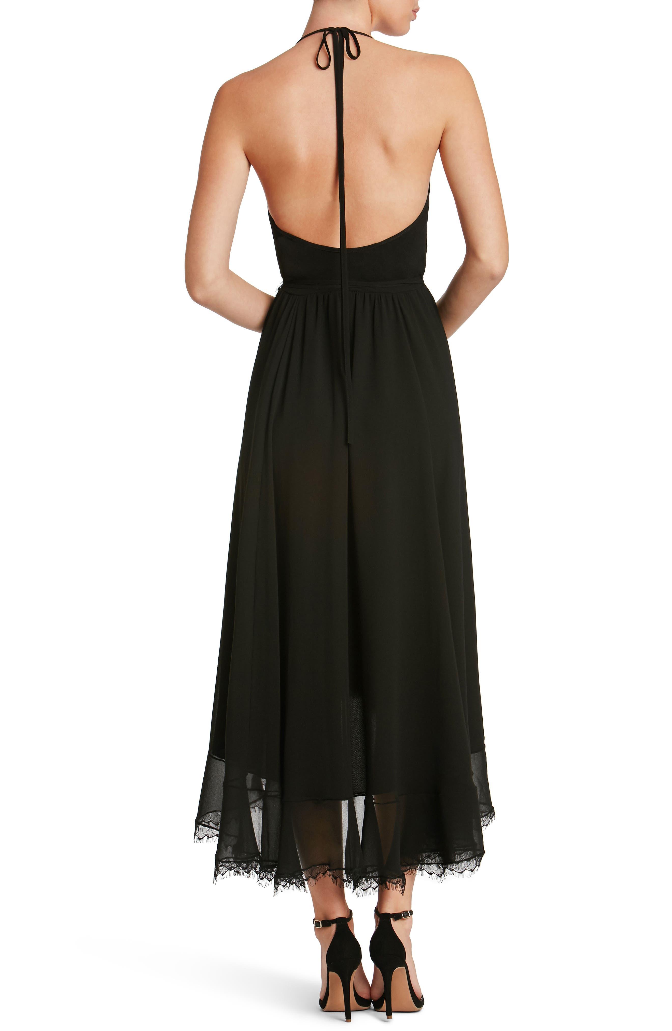 DRESS THE POPULATION,                             Gia Backless Chiffon Wrap Dress,                             Alternate thumbnail 2, color,                             001
