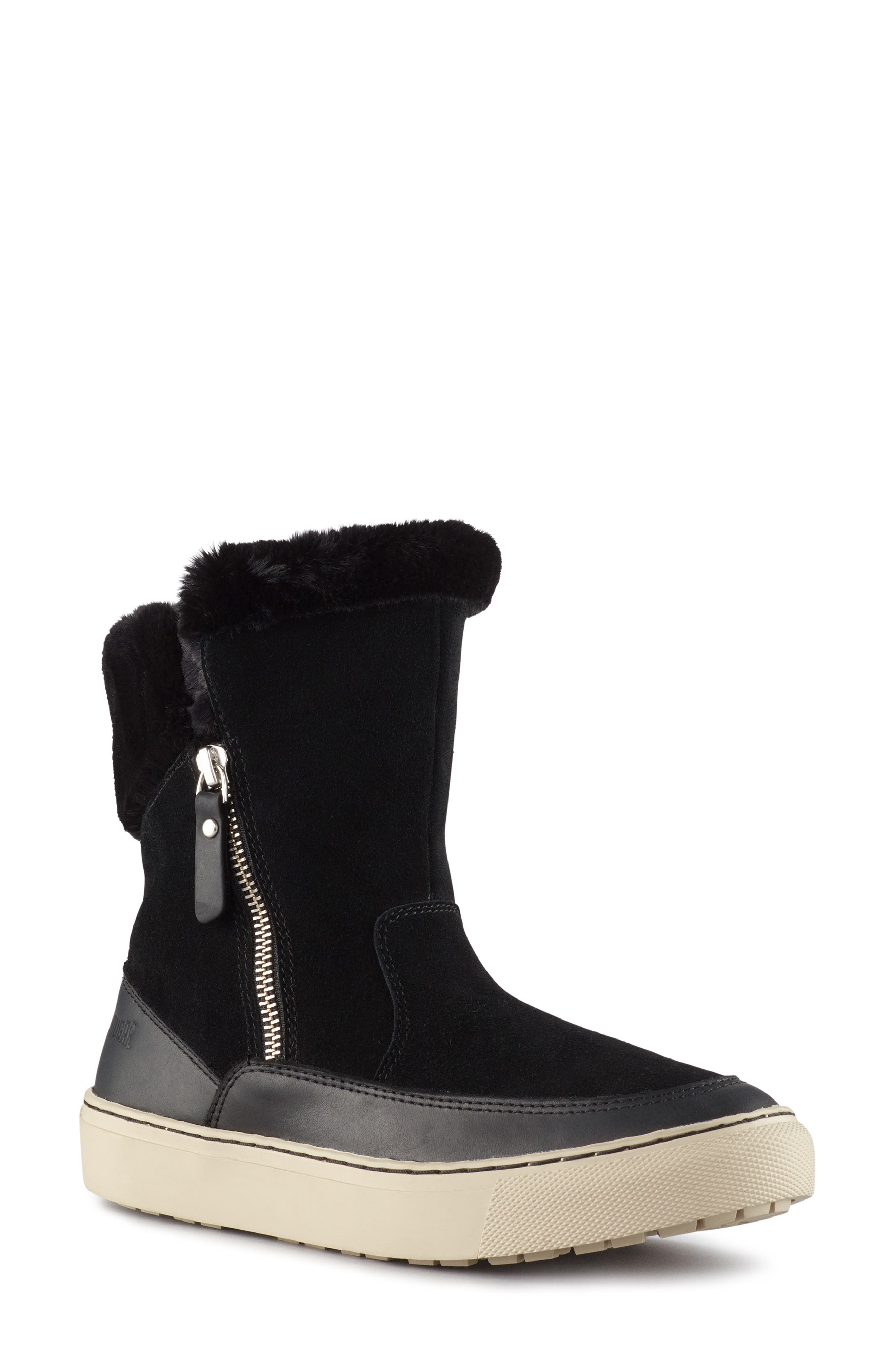 Dresden Waterproof Sneaker Boot with Faux Fur Trim,                             Main thumbnail 1, color,                             001