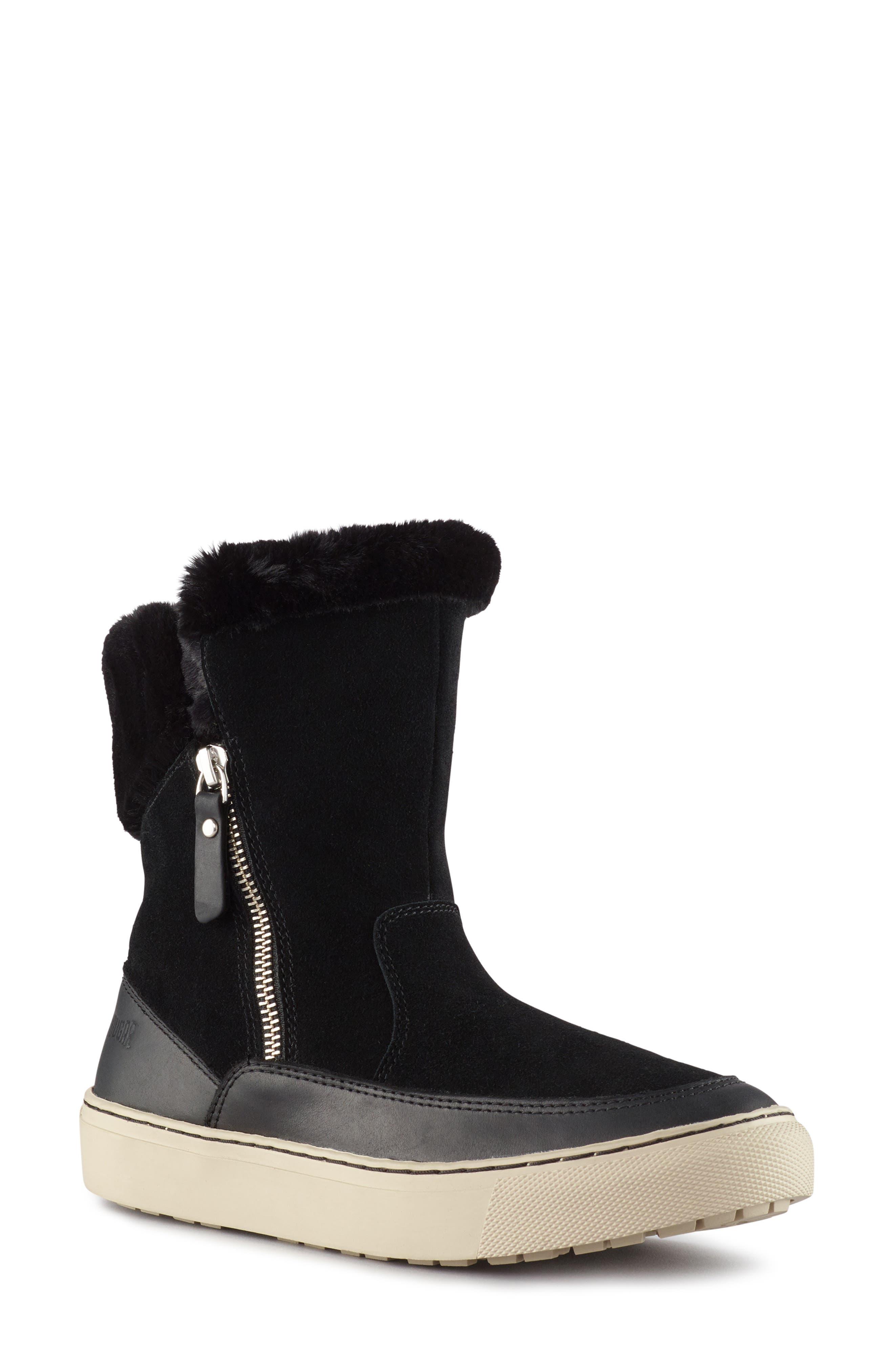 Dresden Waterproof Sneaker Boot with Faux Fur Trim, Main, color, 001