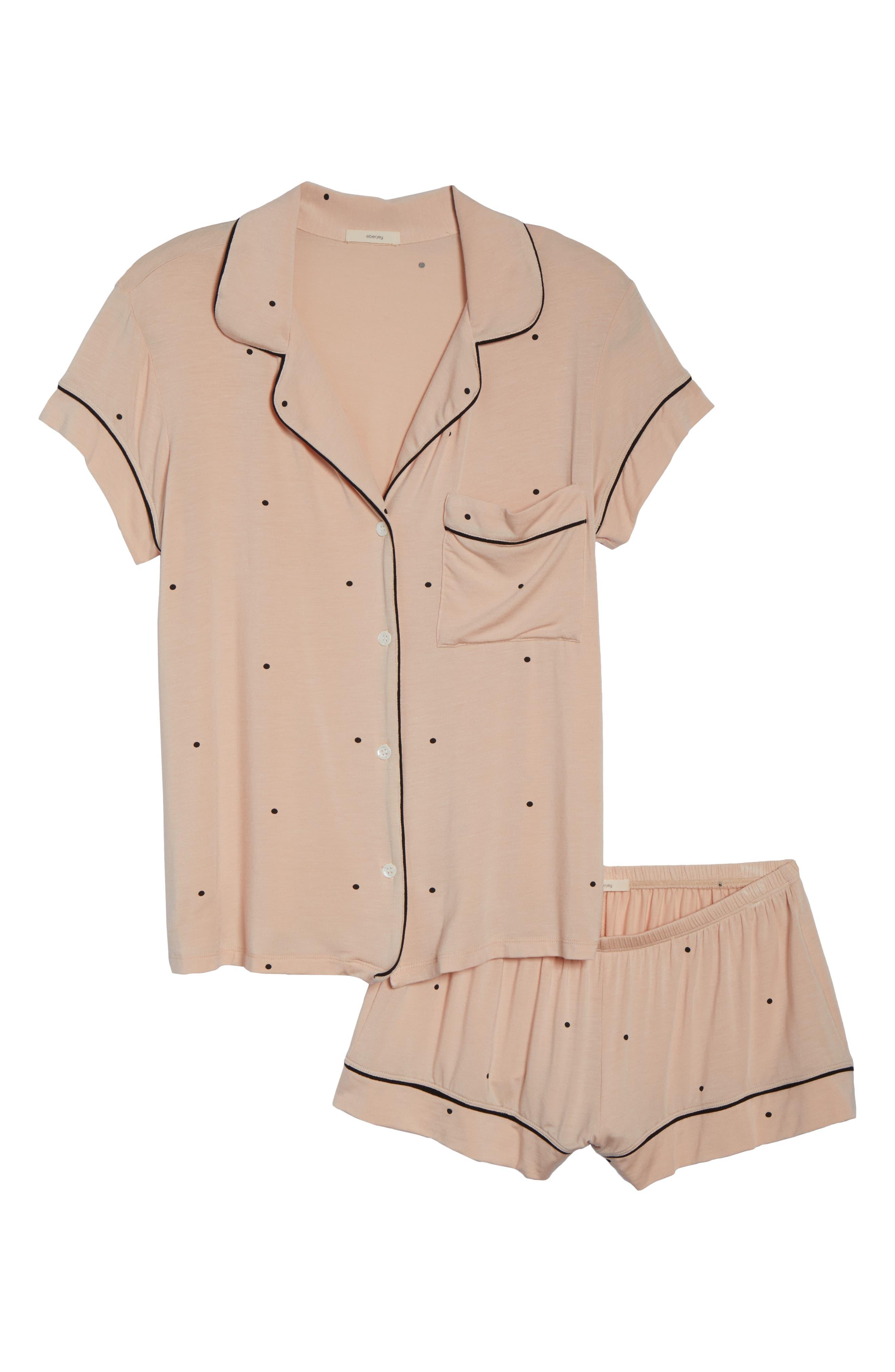 EBERJEY,                             Dots Short Pajamas,                             Alternate thumbnail 6, color,                             655