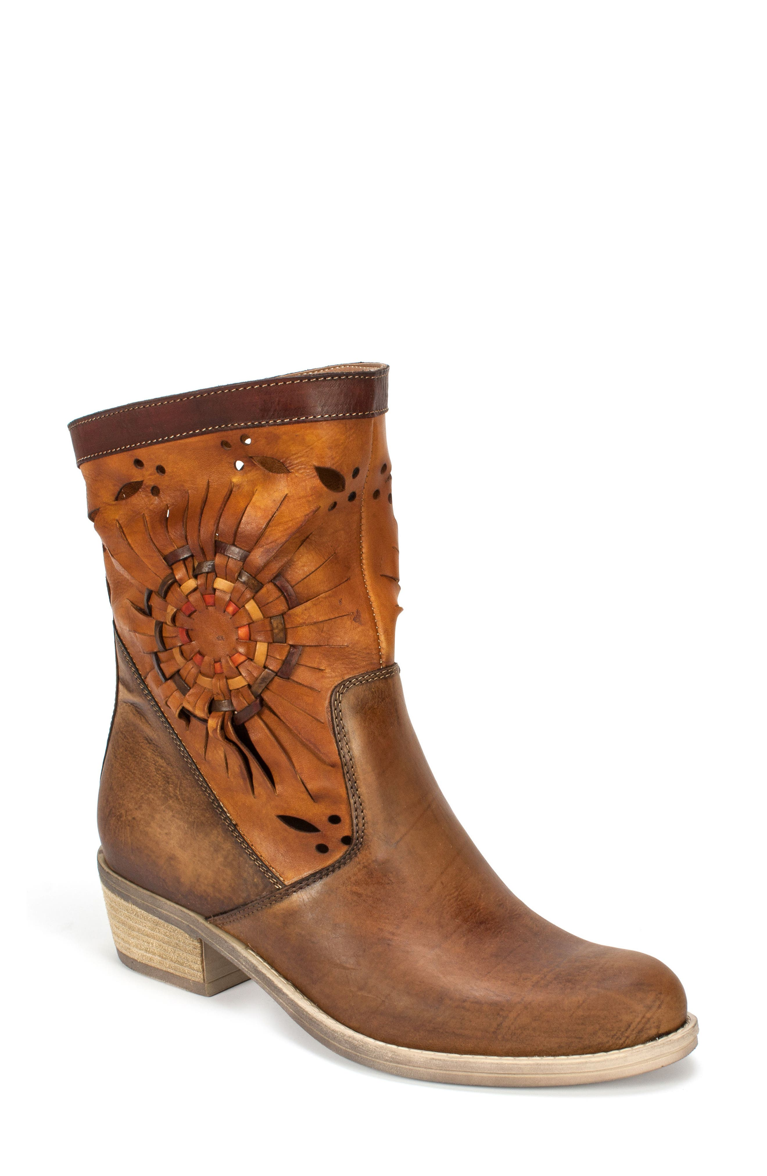 Taryn Woven Sunburst Boot,                         Main,                         color, 200
