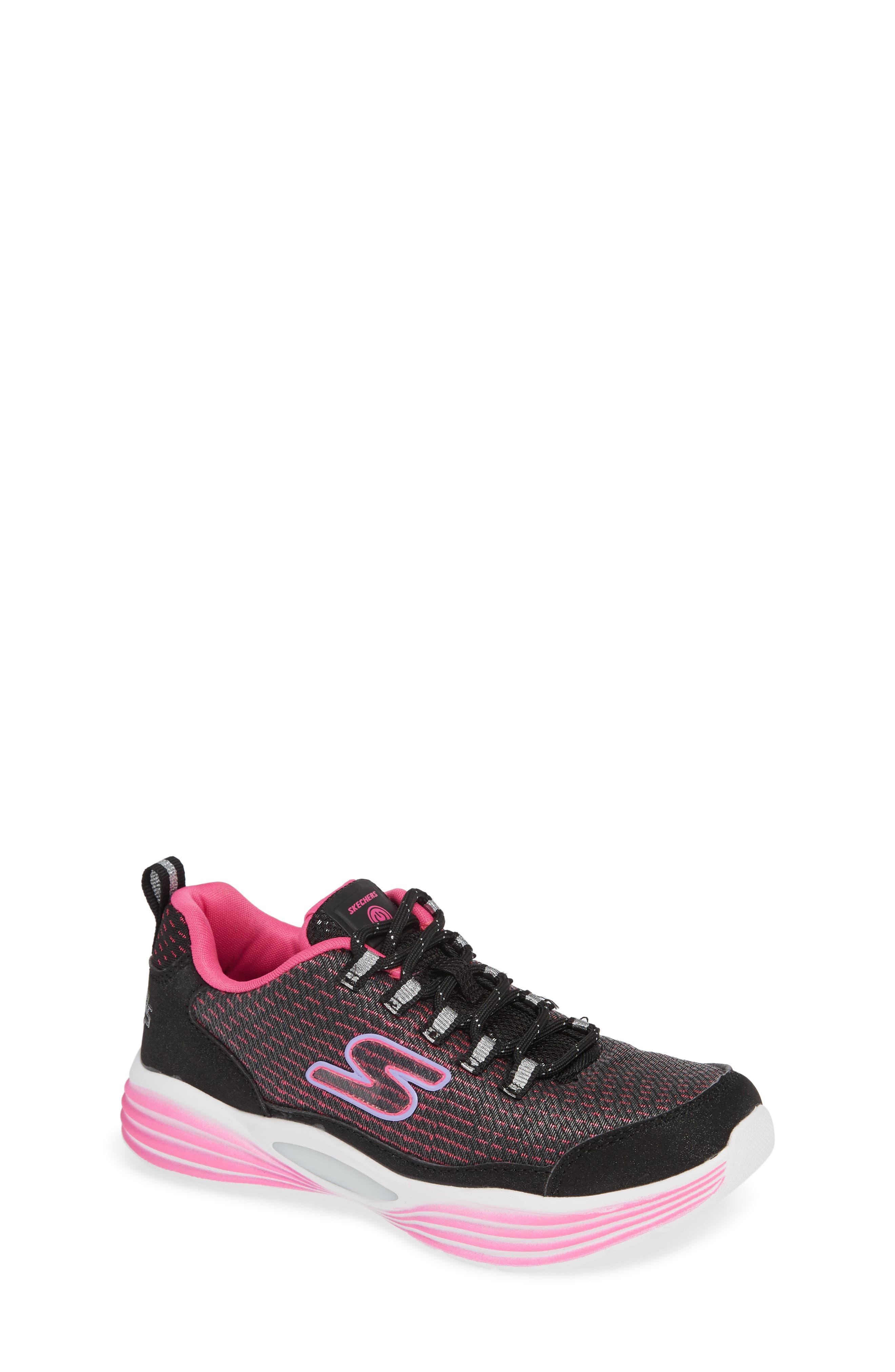 Luminator Light Up Sneaker,                         Main,                         color, BLACK/ PINK