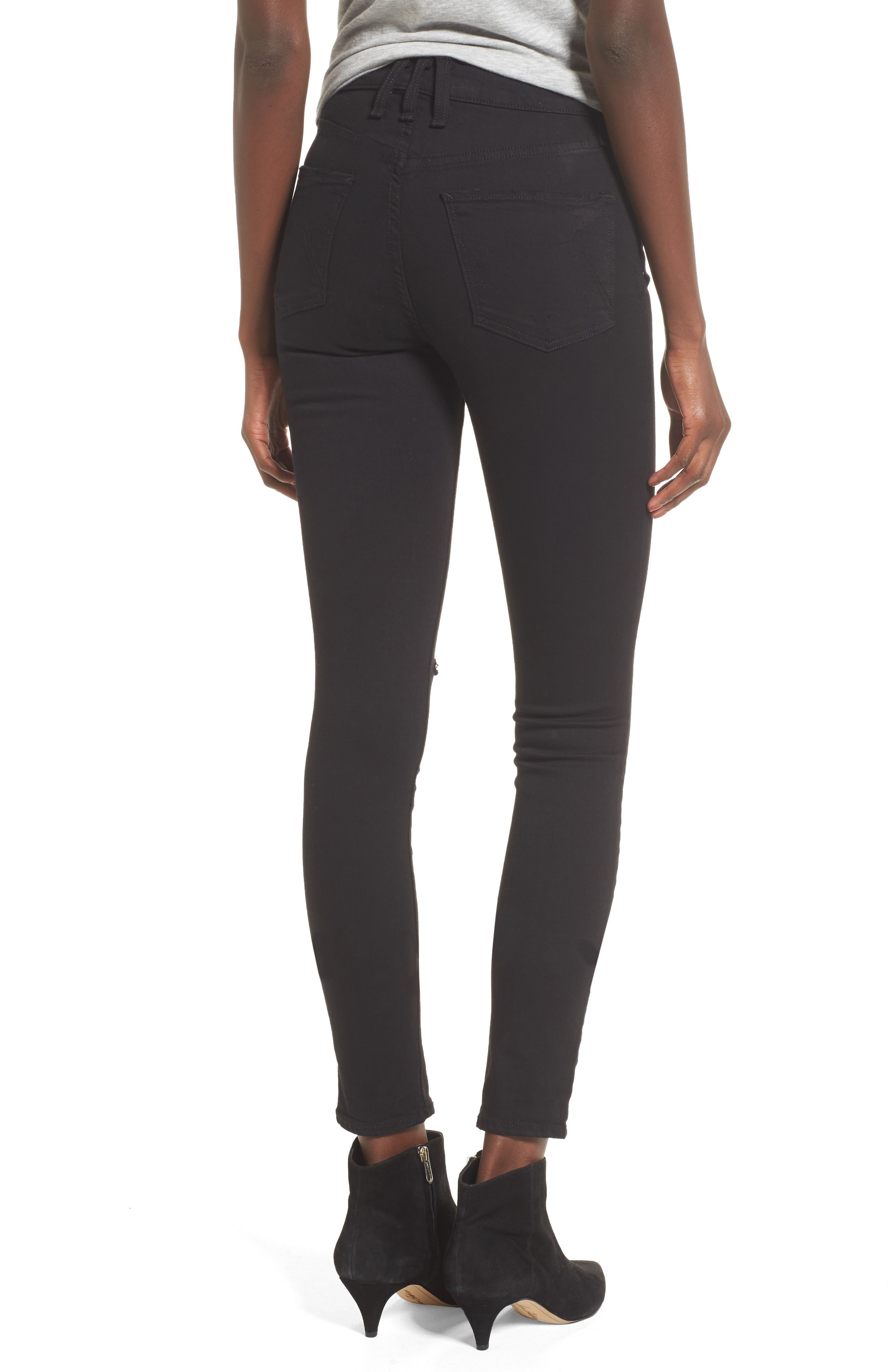 Newton High Waist Ankle Skinny Jeans,                             Alternate thumbnail 2, color,                             001