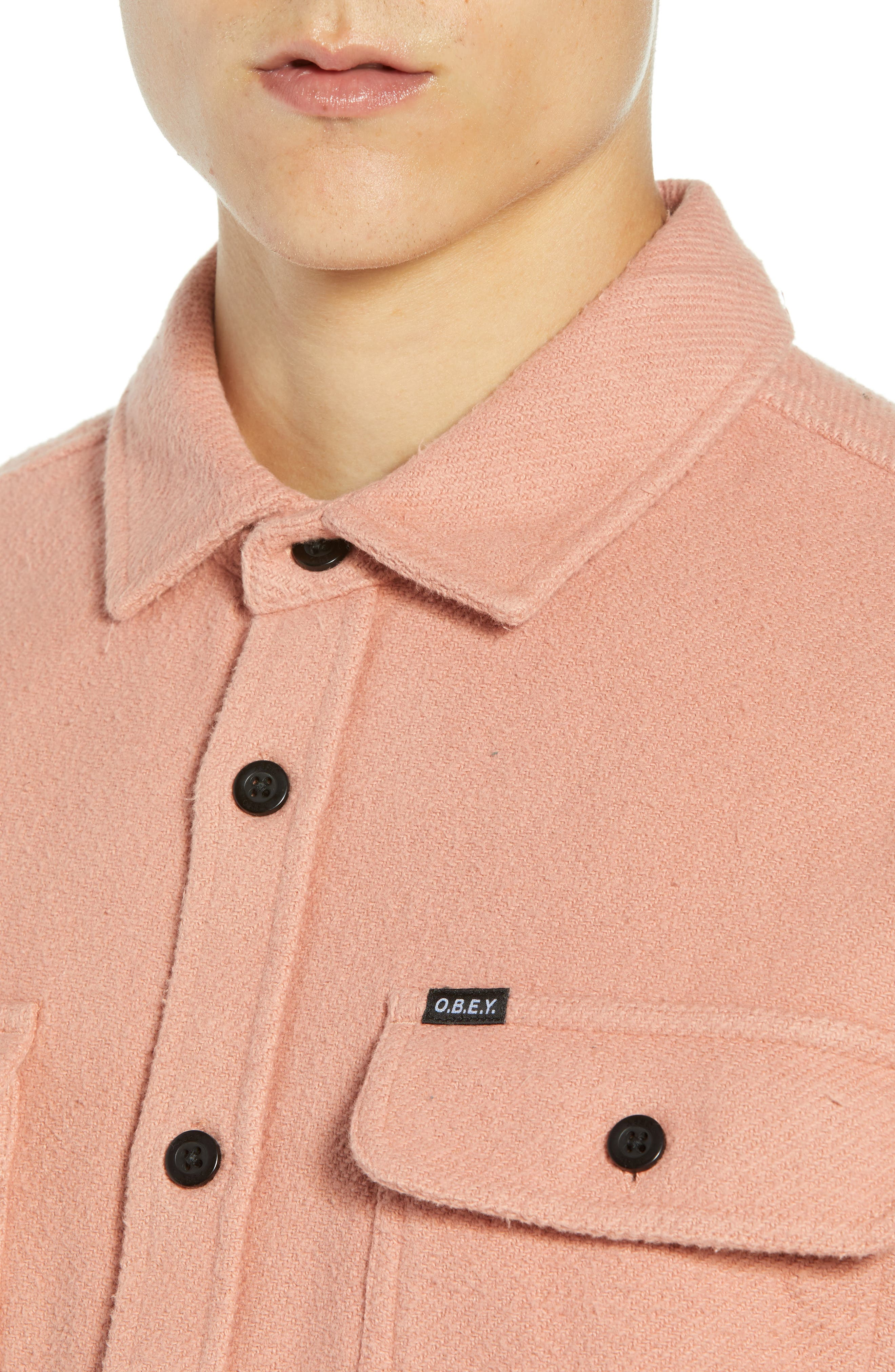 Outpost Flannel Shirt Jacket,                             Alternate thumbnail 2, color,                             ROSE