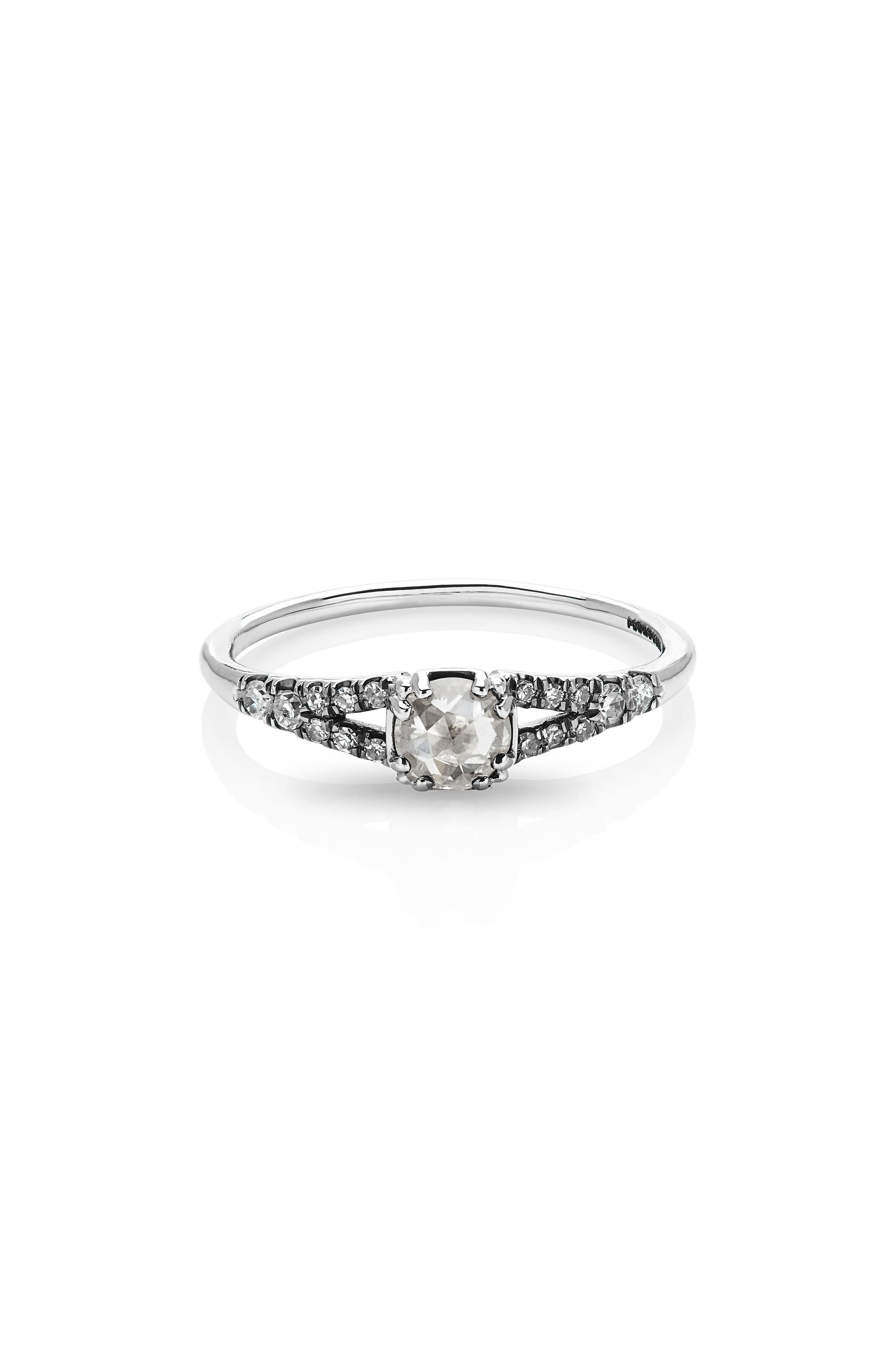 Devotion Solitaire Diamond Ring,                             Main thumbnail 1, color,                             WHITE GOLD