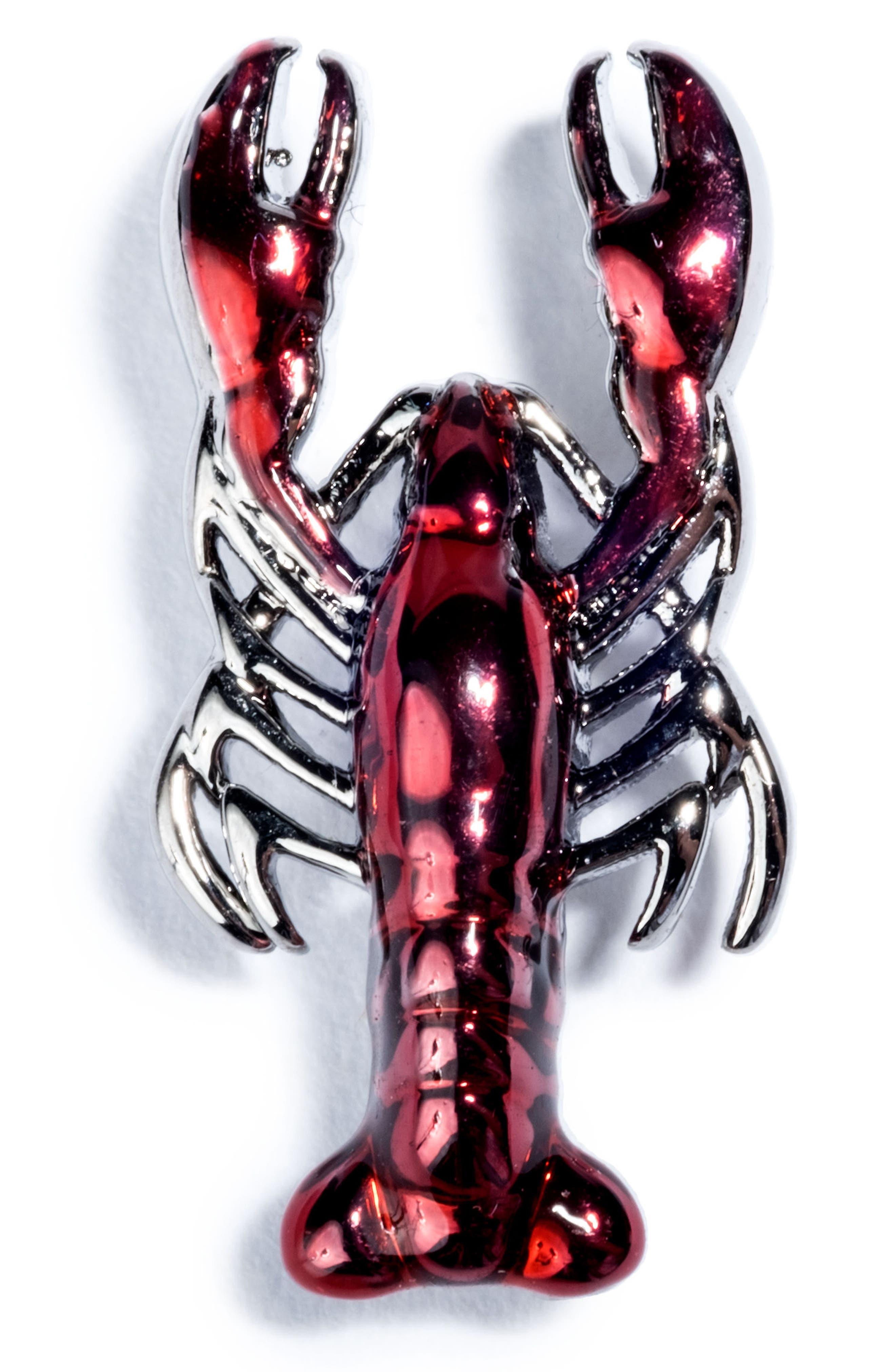 Lobster Pin,                             Main thumbnail 1, color,                             RED