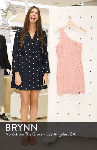 Grace One-Shoulder Lace Sheath Dress, sales video thumbnail