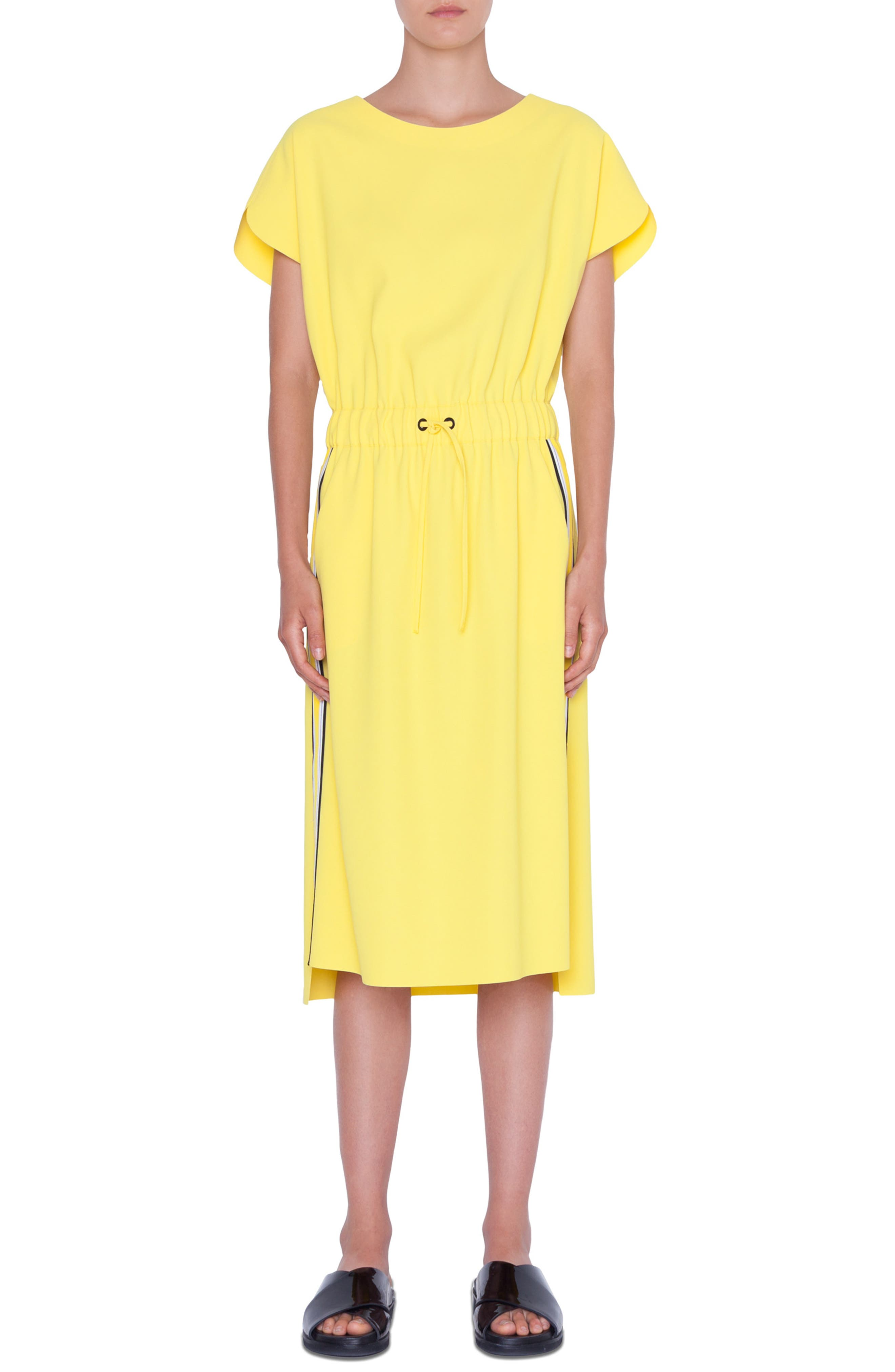 Akris Punto Tuxedo Stripe Dress, Yellow