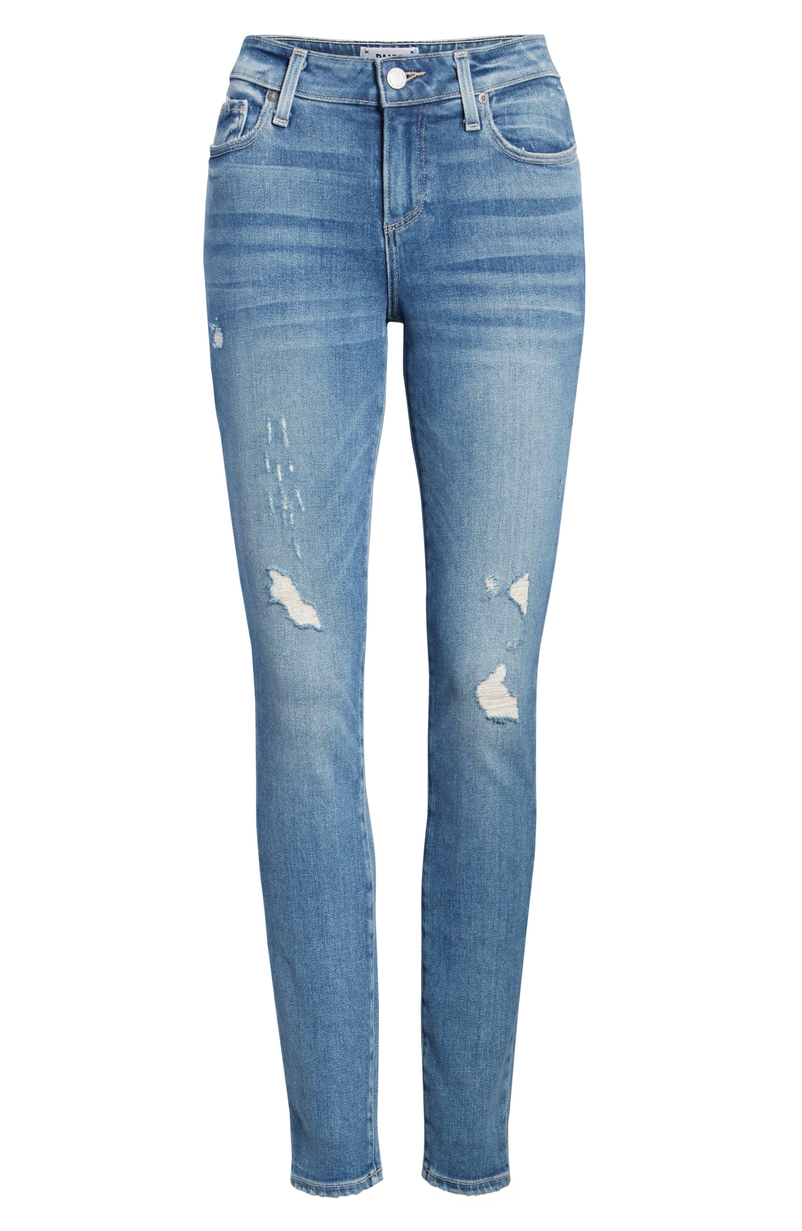 PAIGE,                             Verdugo Ultra Skinny Jeans,                             Alternate thumbnail 7, color,                             KAYSON DISTRESSED