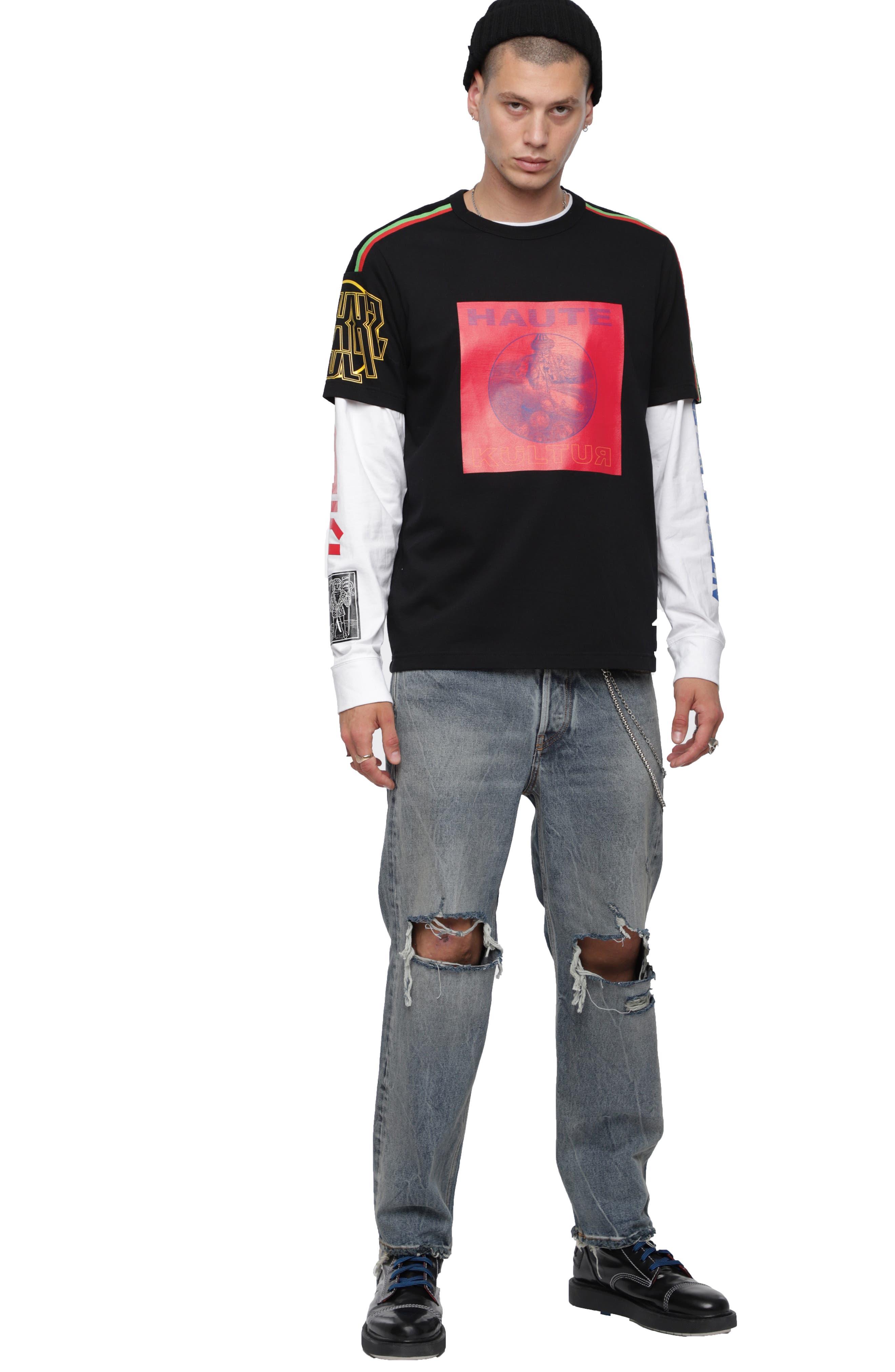 T-DOCI T-Shirt,                             Alternate thumbnail 4, color,                             BLACK