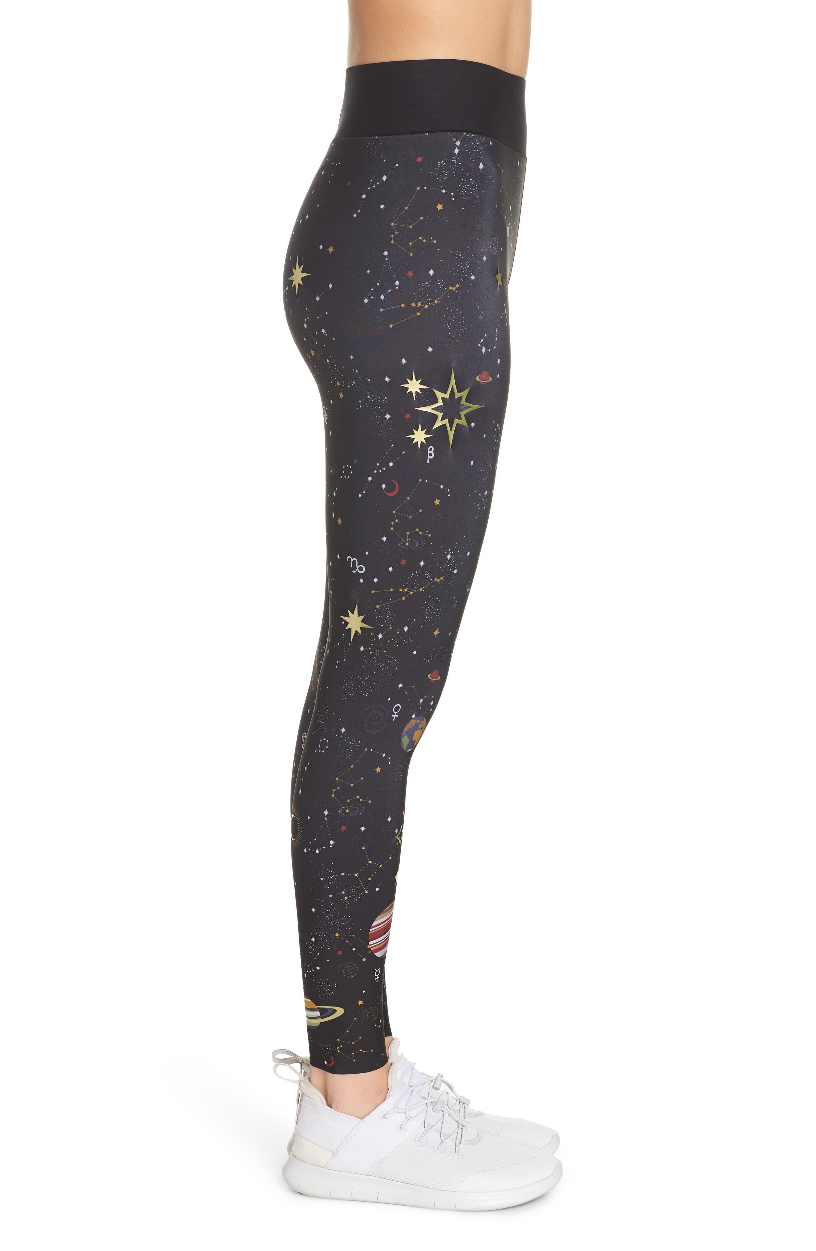 Ultra High Galaxy Leggings,                             Alternate thumbnail 3, color,                             001