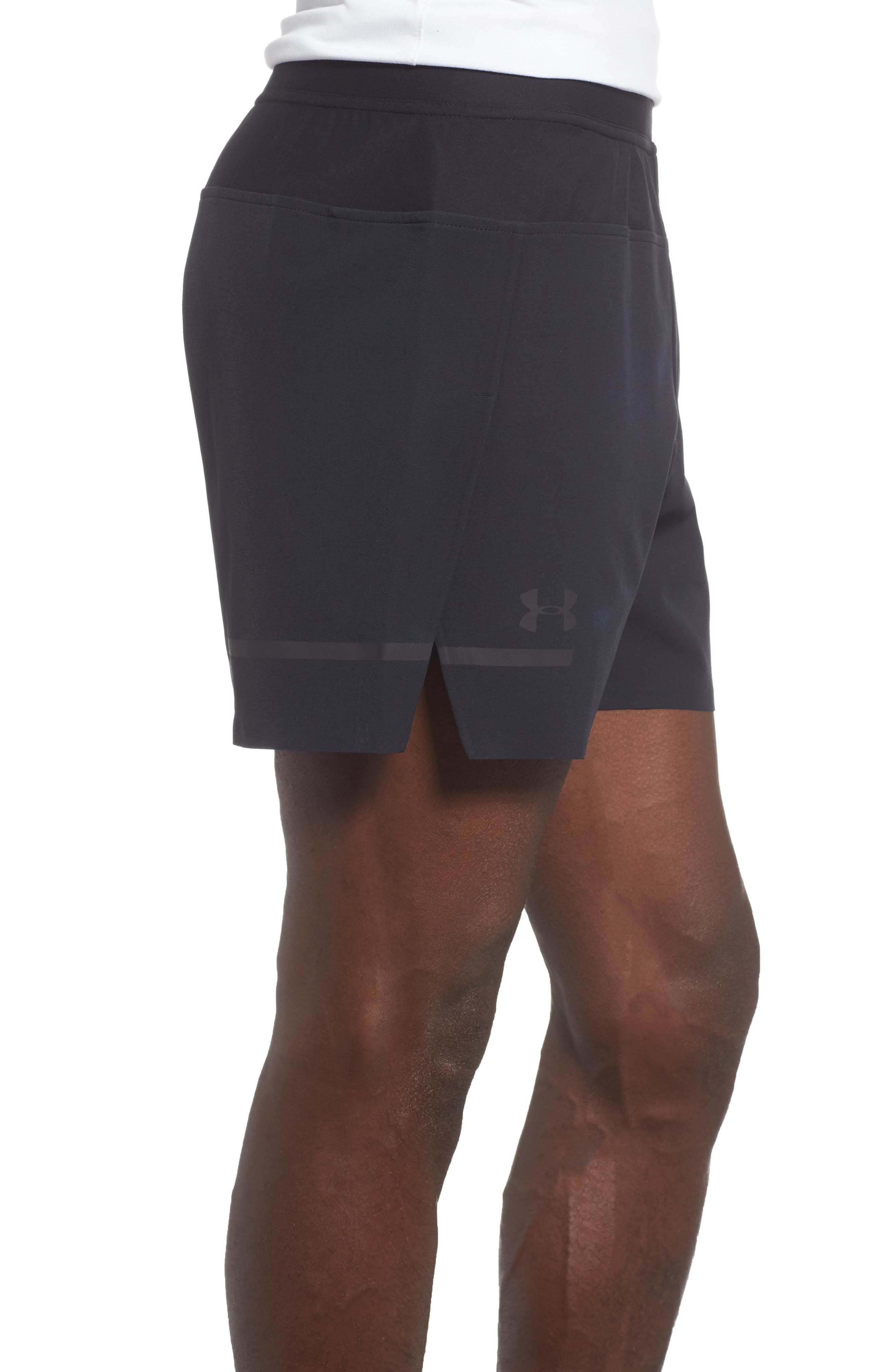 Perpetual Fitted Shorts,                             Alternate thumbnail 3, color,                             BLACK