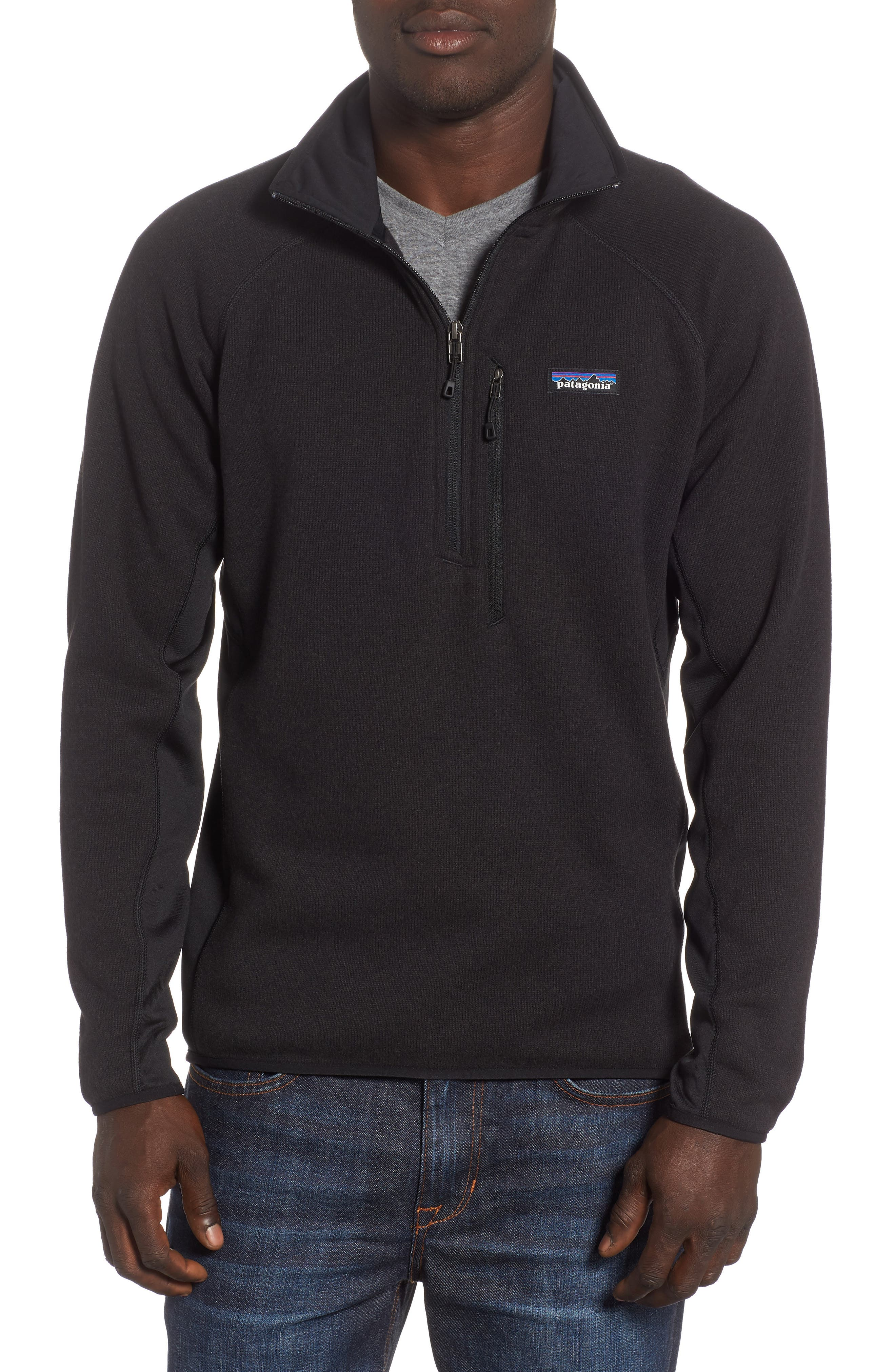Better Sweater<sup>®</sup> Performance Slim Quarter-Zip Pullover,                         Main,                         color, BLACK